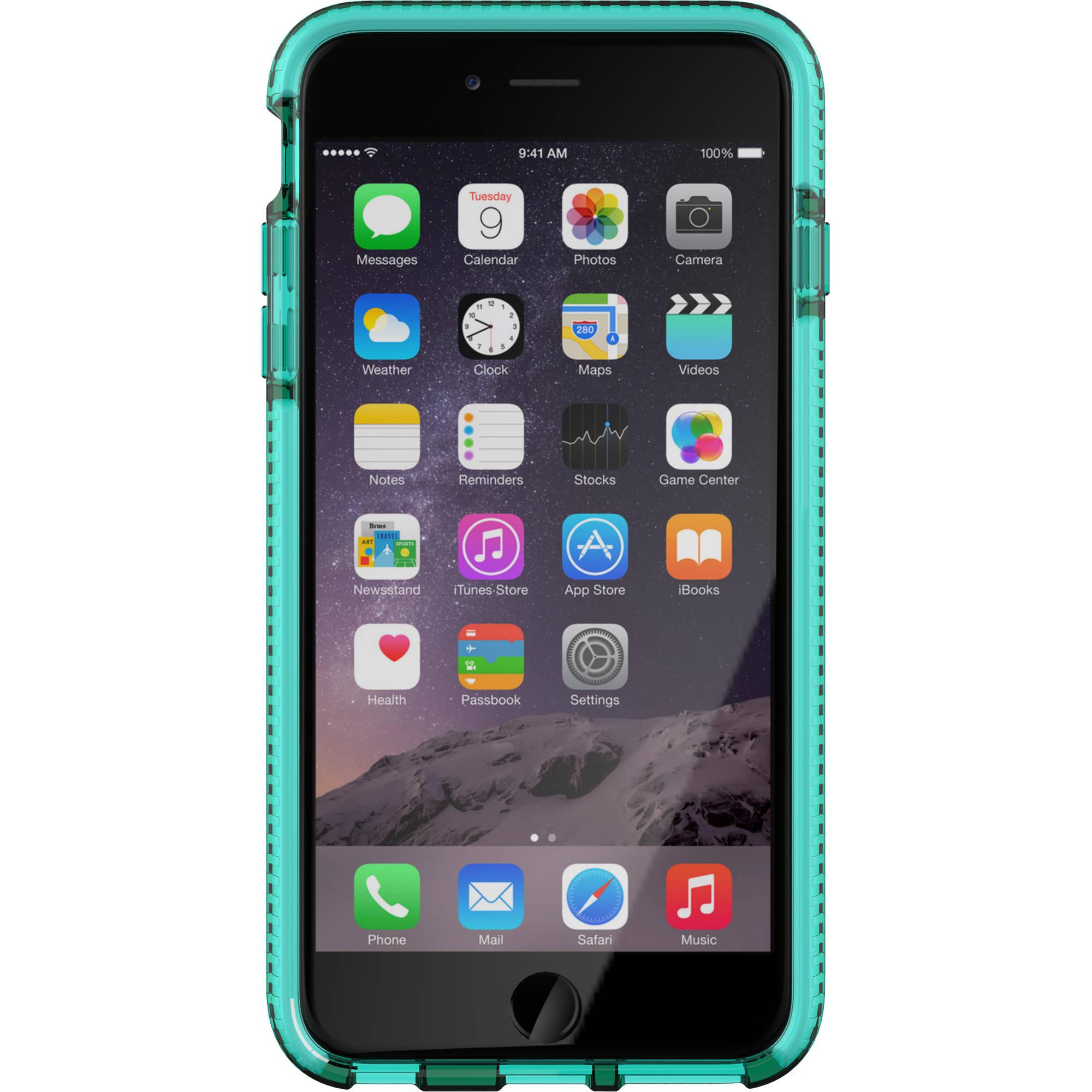 tech21 evo check case for iphone 6 plus aqua white t21 5158. Black Bedroom Furniture Sets. Home Design Ideas