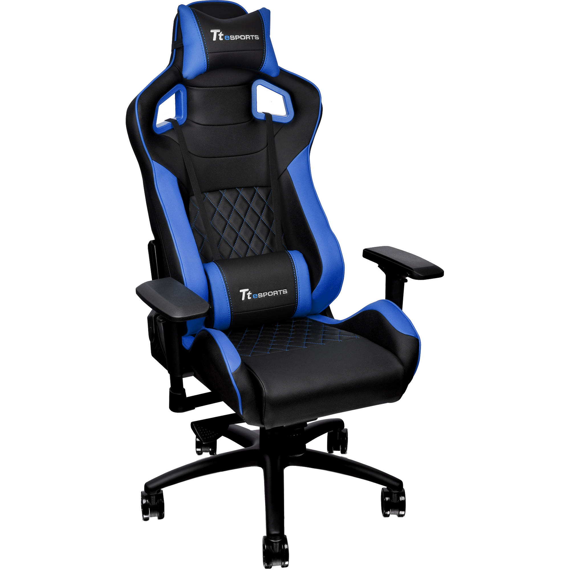 Thermaltake Tt eSports GT Fit F100 Gaming Chair (Blue u0026 Black)  sc 1 st  Bu0026H & Thermaltake Tt eSports GT Fit F100 Gaming Chair GCGTFBLMFDL01