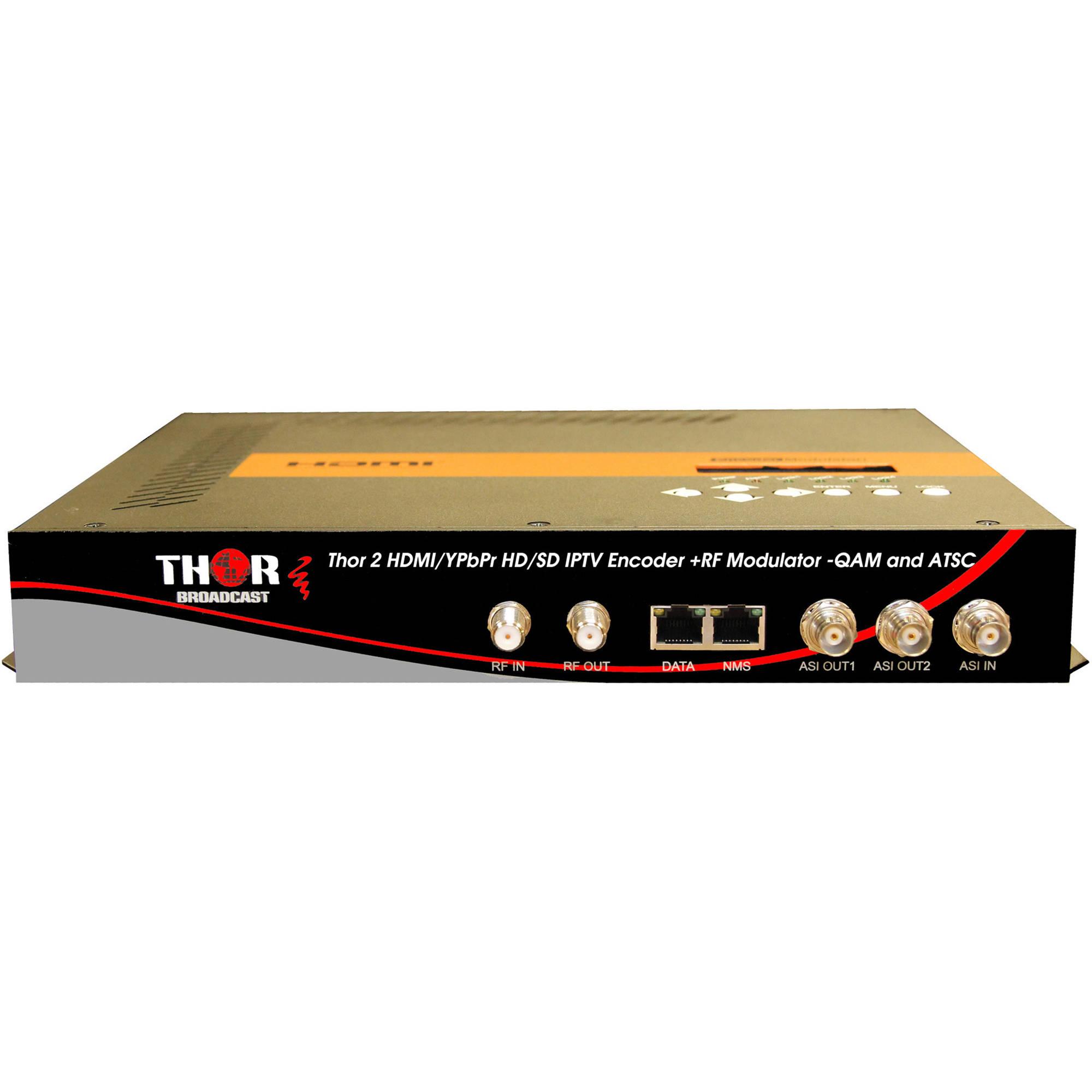 Thor 2 Channel HDMI YPbPr CVBS To Digital RF Encoder Modulator System