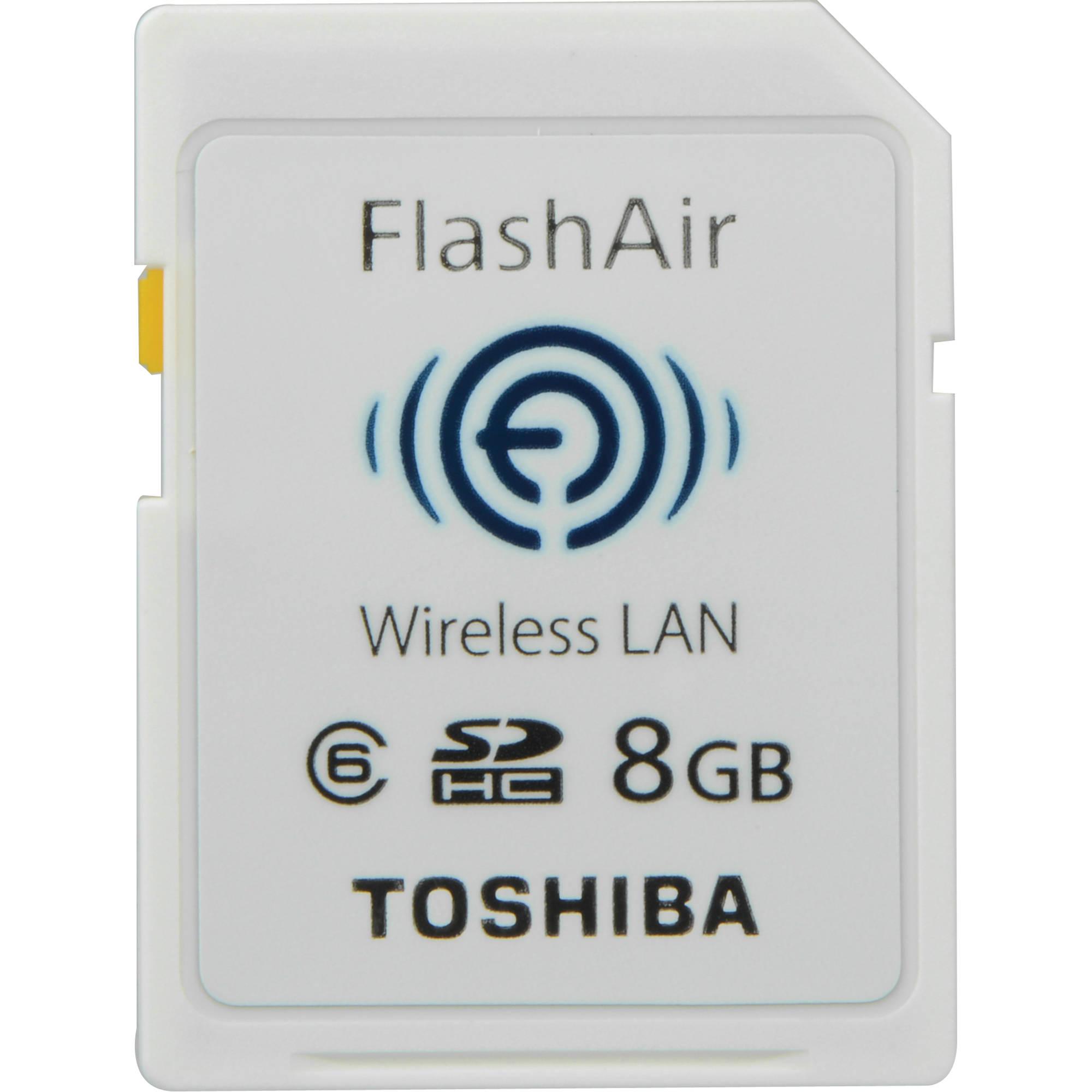 Toshiba 8GB FlashAir Wireless SD Card PFW008U-1ABW B&H Photo