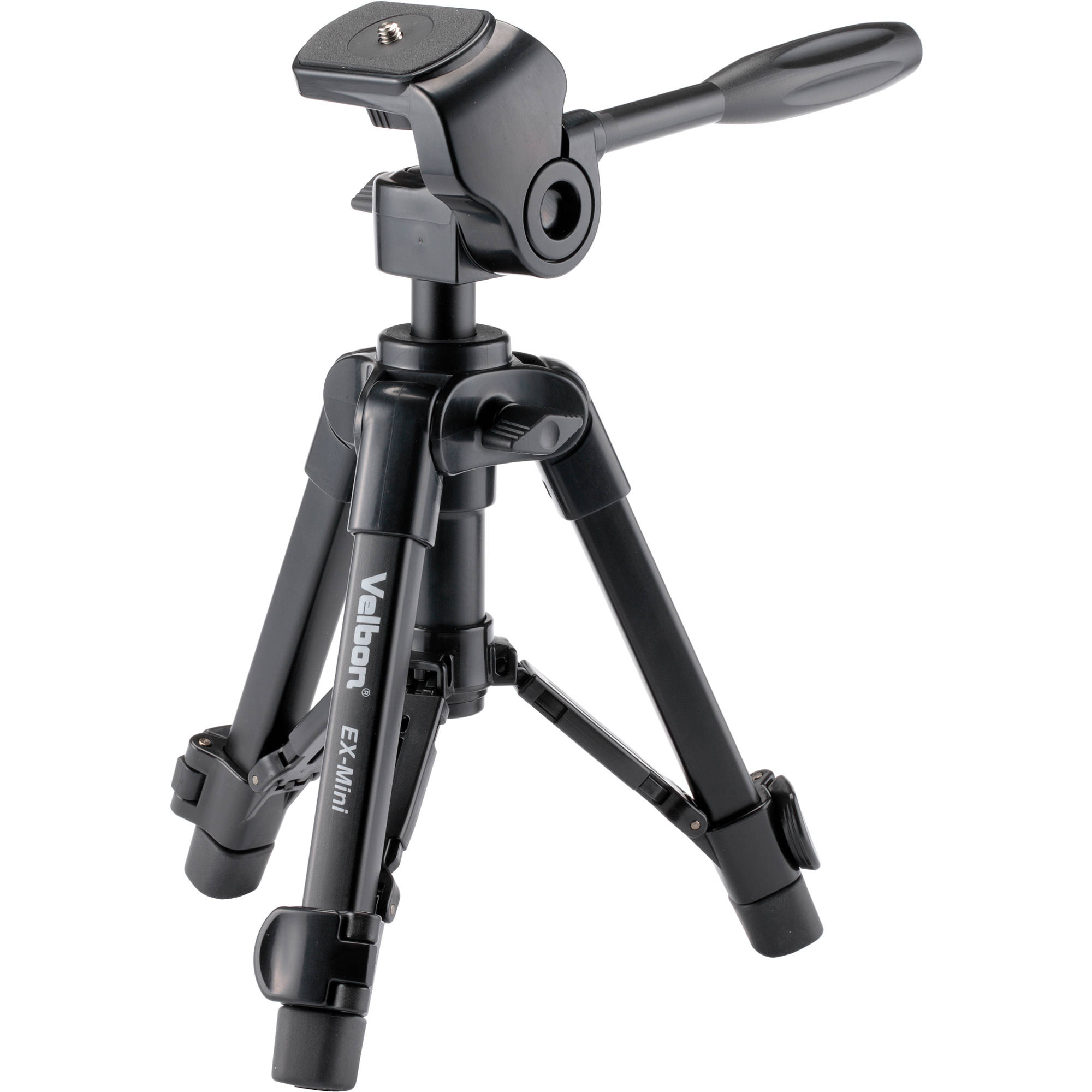 velbon ex mini aluminum tabletop tripod with 2 way ex mini b h. Black Bedroom Furniture Sets. Home Design Ideas