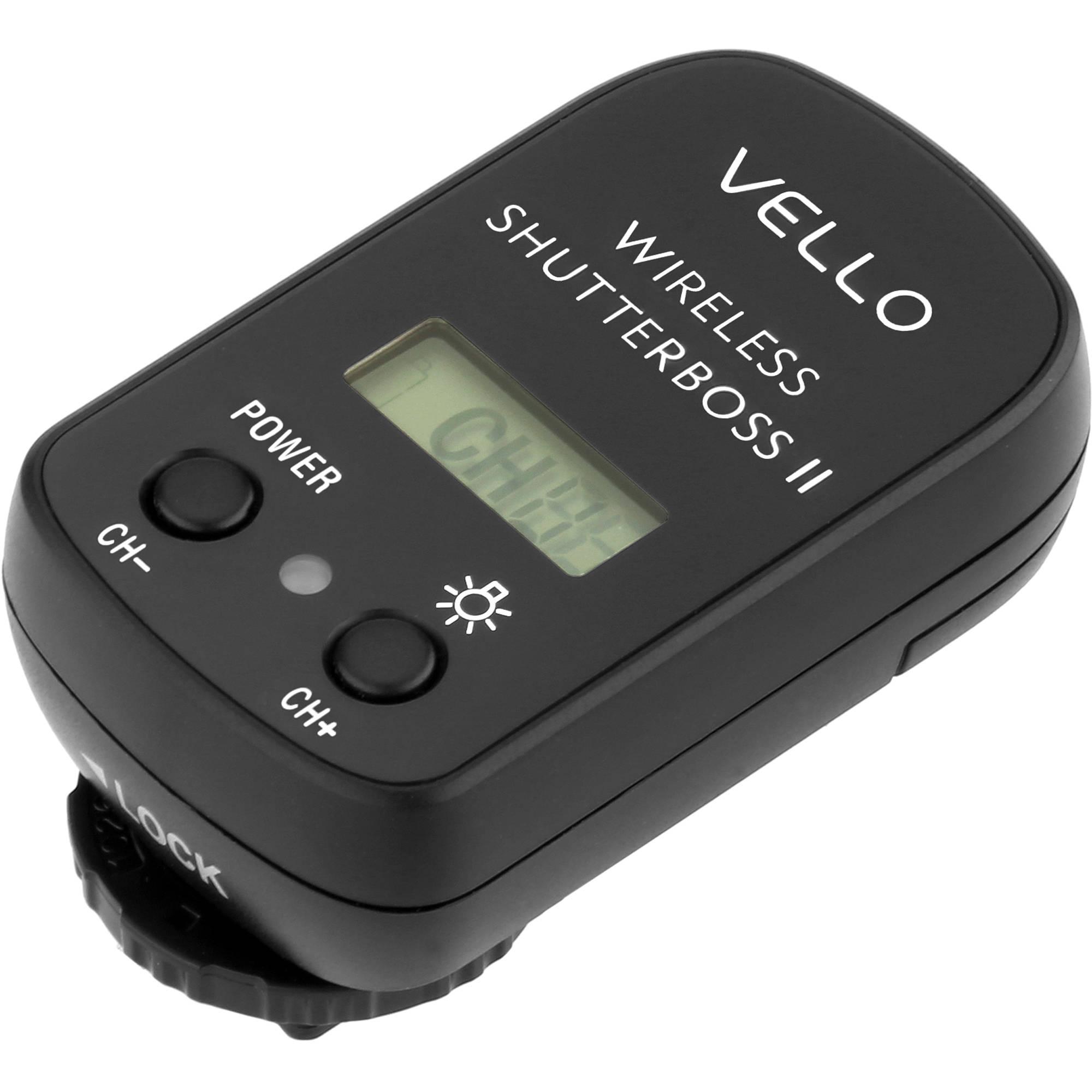 vello rcw r vello wireless shutterboss ii