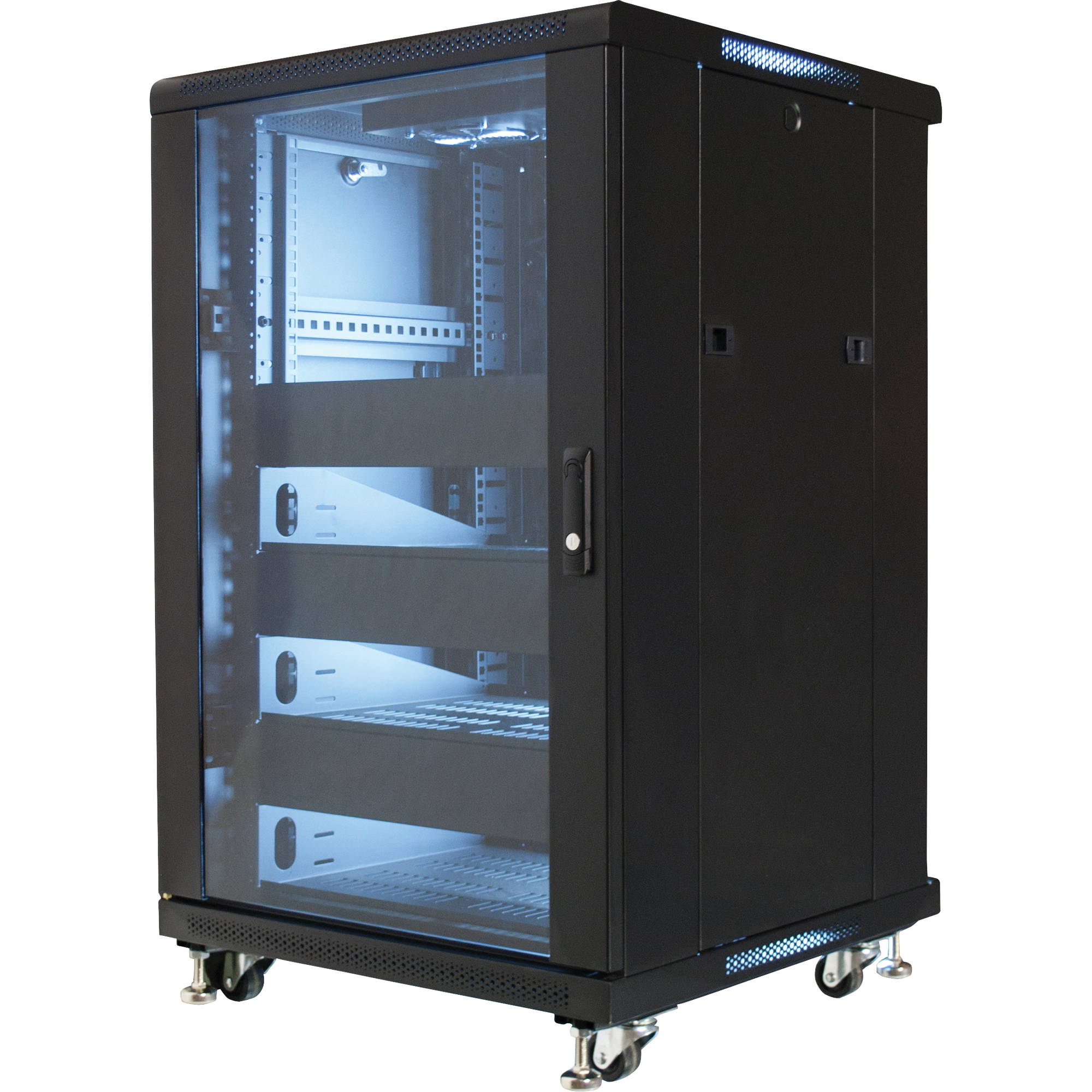 Rack Mount Enclosures : Video mount products quot equipment rack enclosure eren