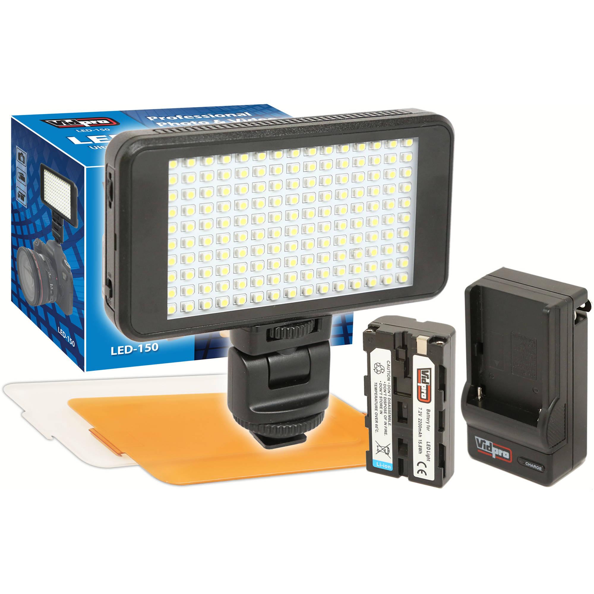 Vidpro Ultra Slim Led 150 On Camera Video Lighting Kit Led 150