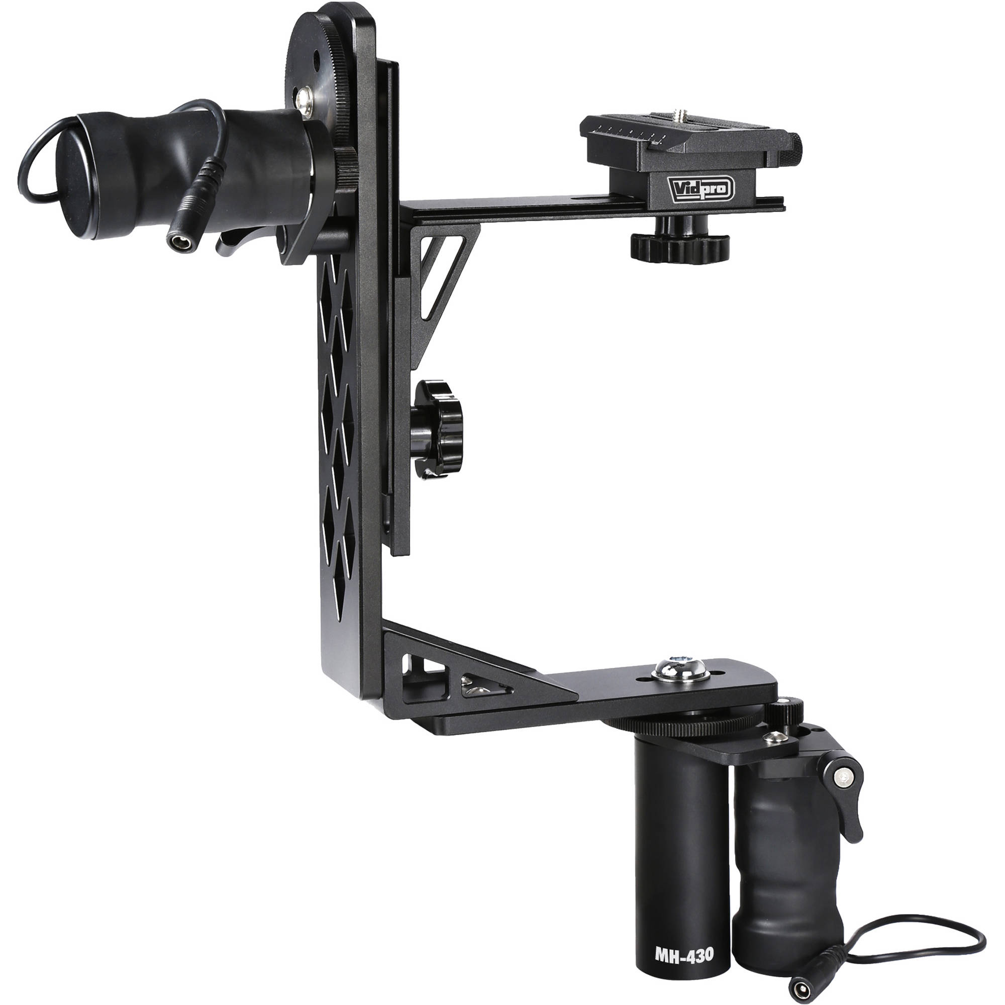 Vidpro motorized pan tilt gimbal head mh 430 b h photo for Motorized video camera mount