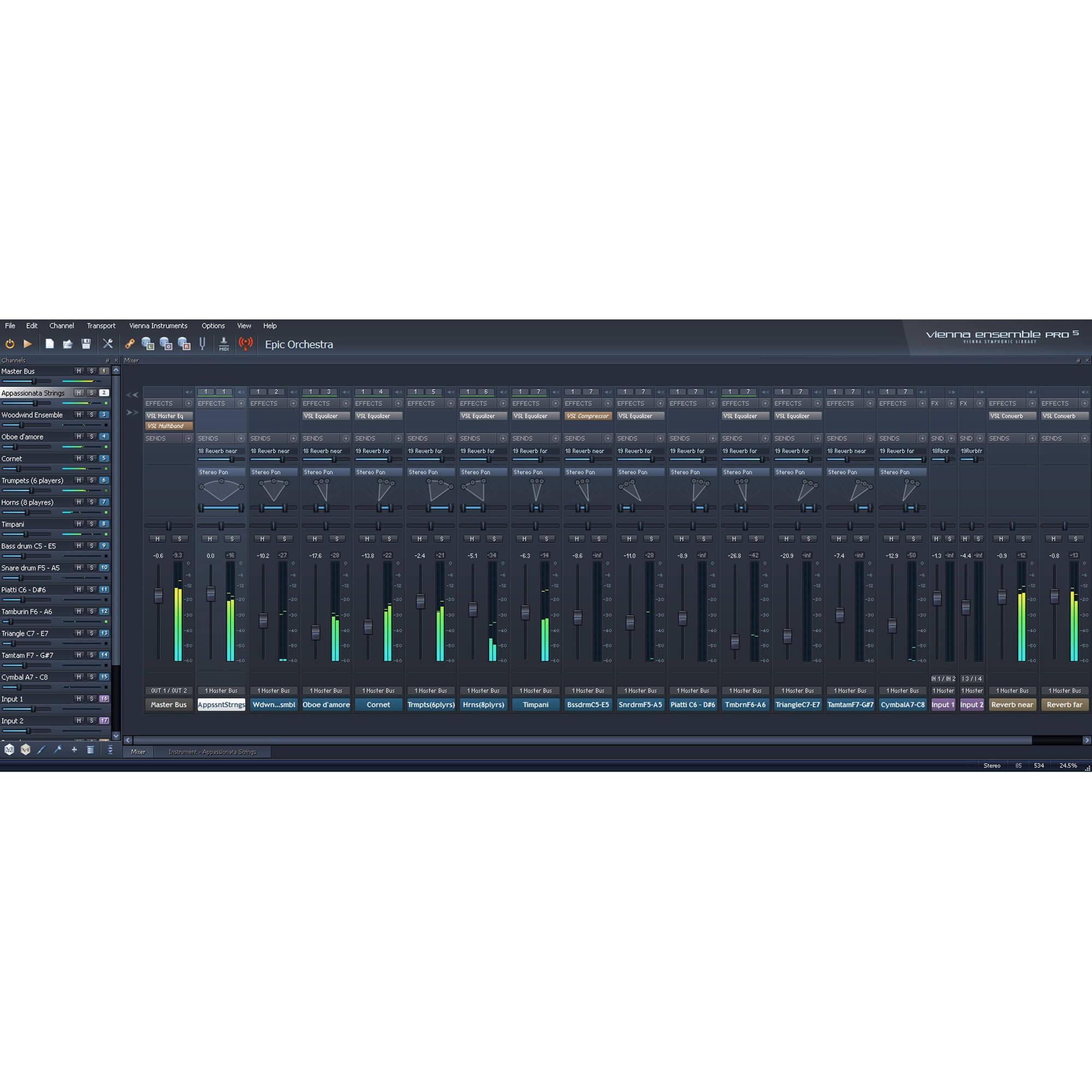 Virtual Mixer Software Vienna Symphonic Library Vsls Vienna Ensemble Pro