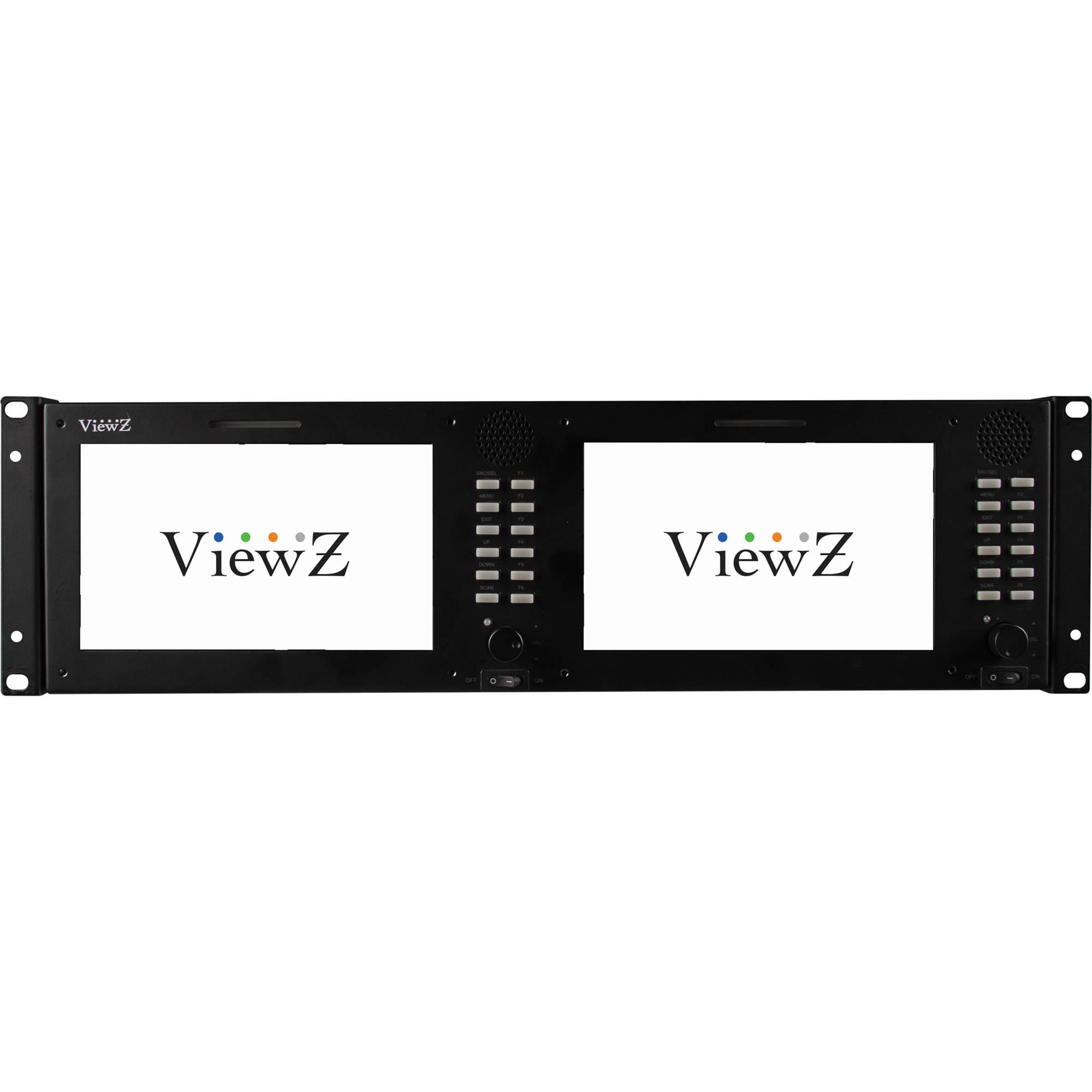 Viewz Vz 070rm 3g 3ru Dual 70 Sdi Bh Rbvhda8 Hd Sdsdi 1 Input 8 Output Video Distribution Amplifier Rackmount Monitor