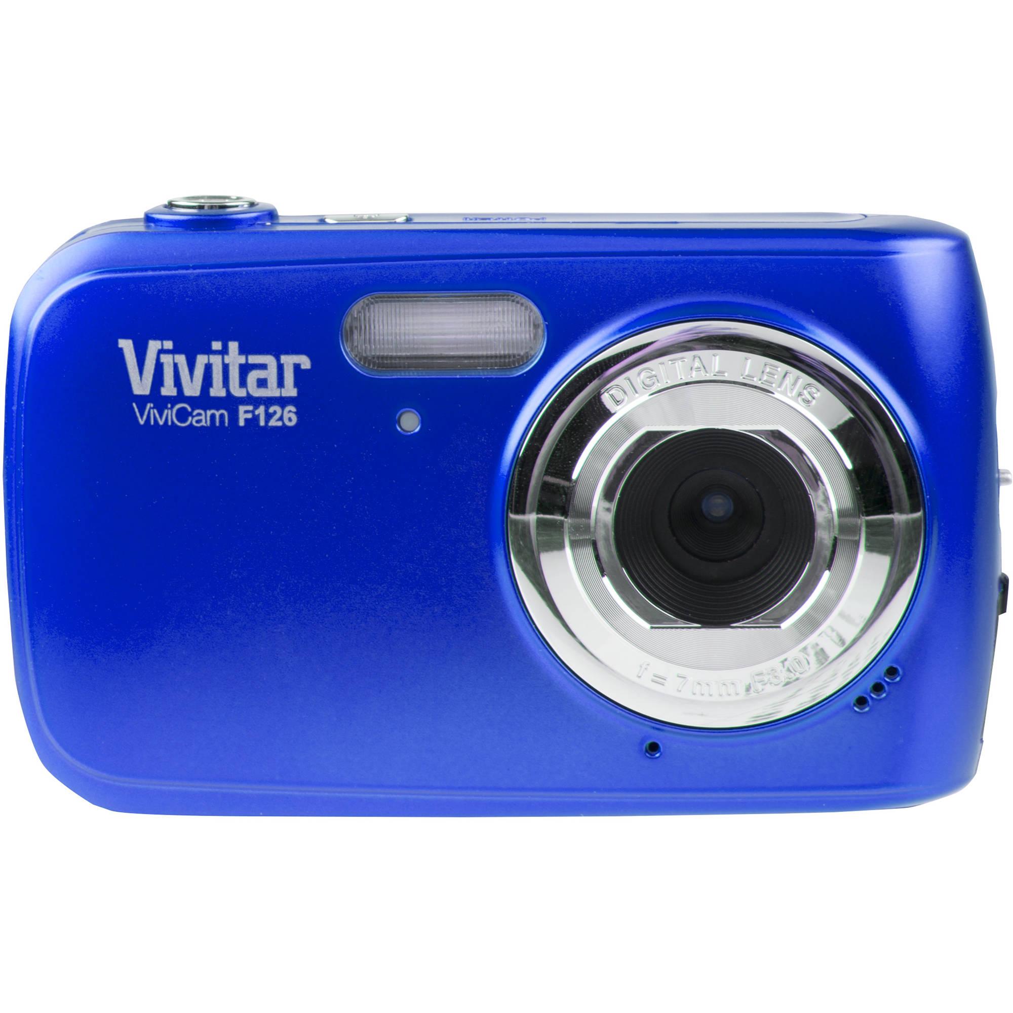 Vivitar F126 Digital Camera (Blue) VF126-BLU-INT B&H Photo Video
