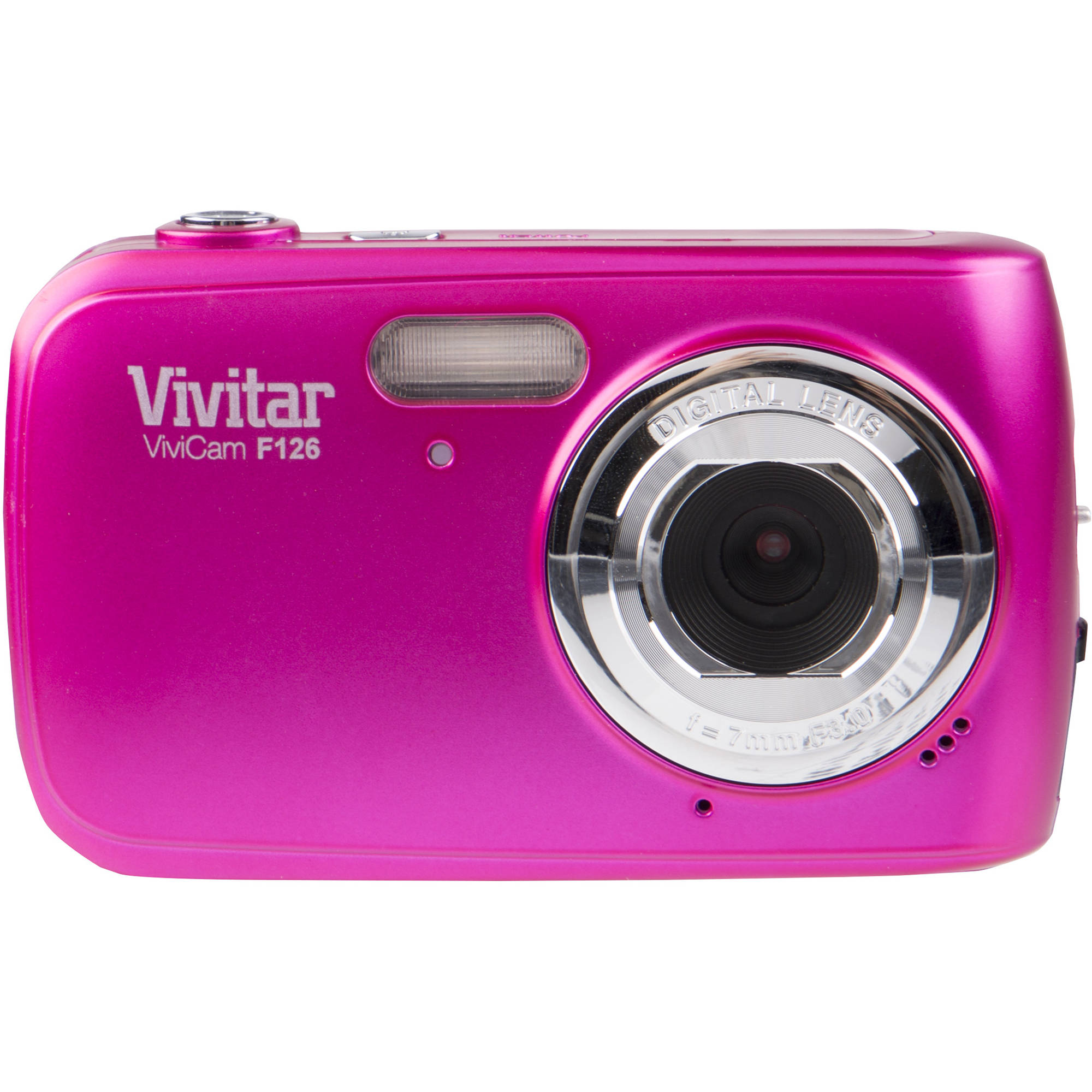 Vivitar F126 Digital Camera (Pink) VF126-PNK-INT B&H Photo Video