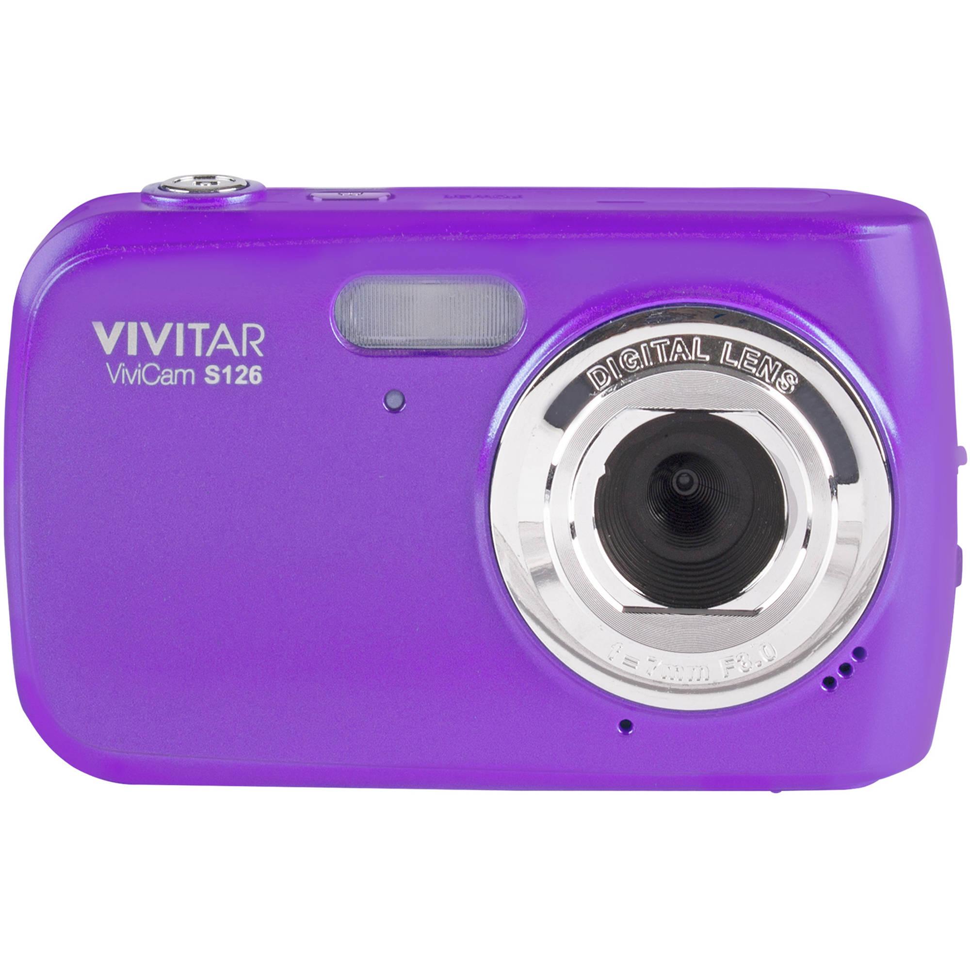Vivitar ViviCam S126 Digital Camera (Purple) VS126-PUR B&H Photo