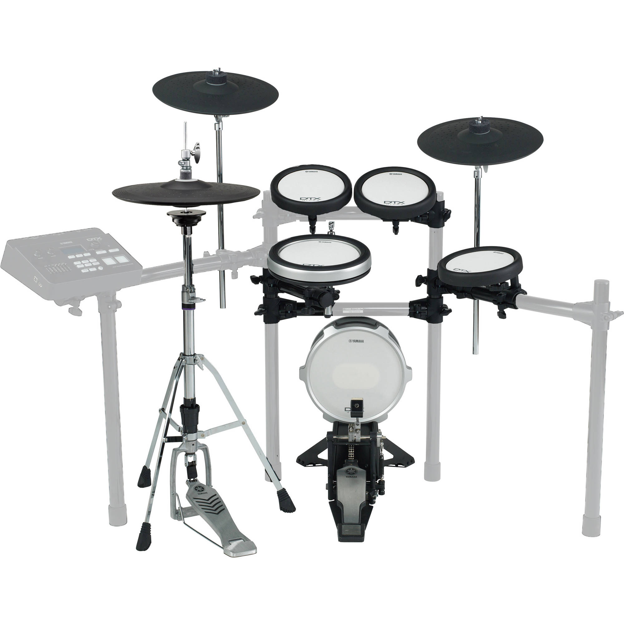 Yamaha cymbal and drum pad set for the dtx720k dtp582 b h for Yamaha drum pads