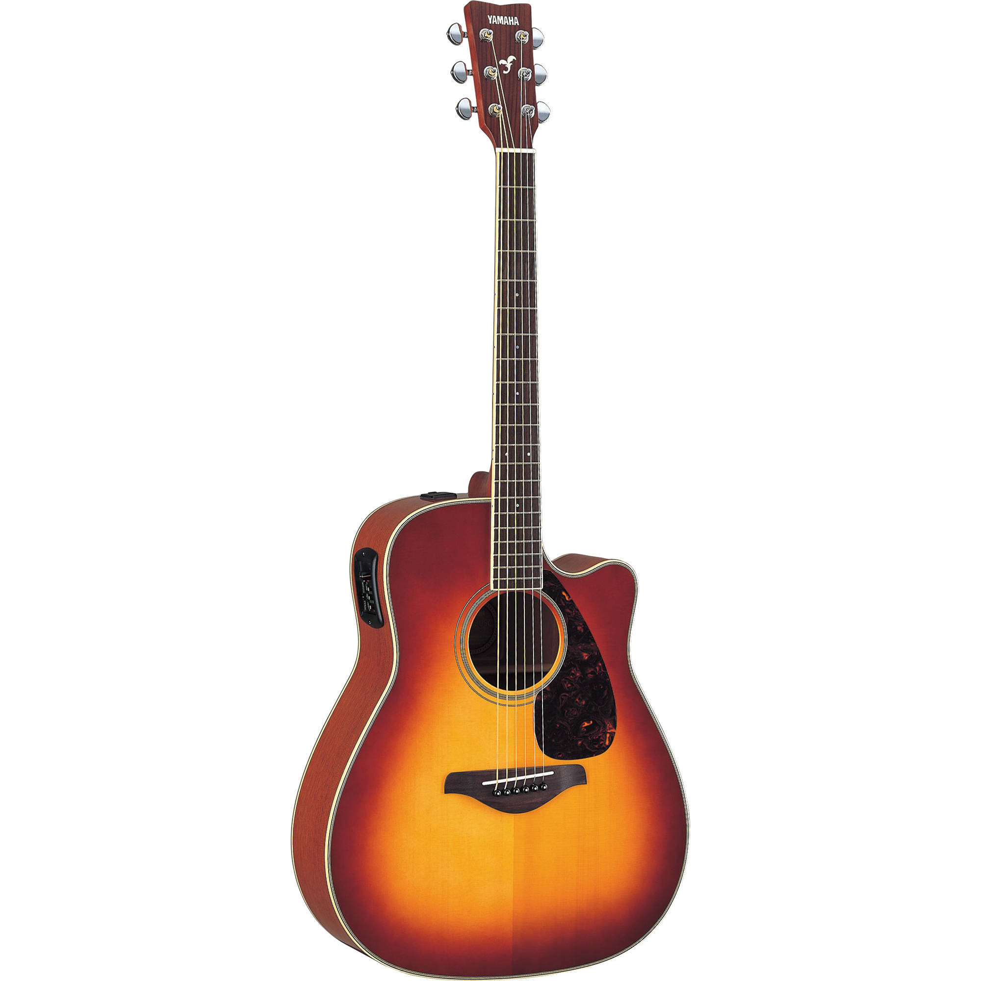 yamaha fgx720sca acoustic electric guitar fgx720sca bs b h photo. Black Bedroom Furniture Sets. Home Design Ideas