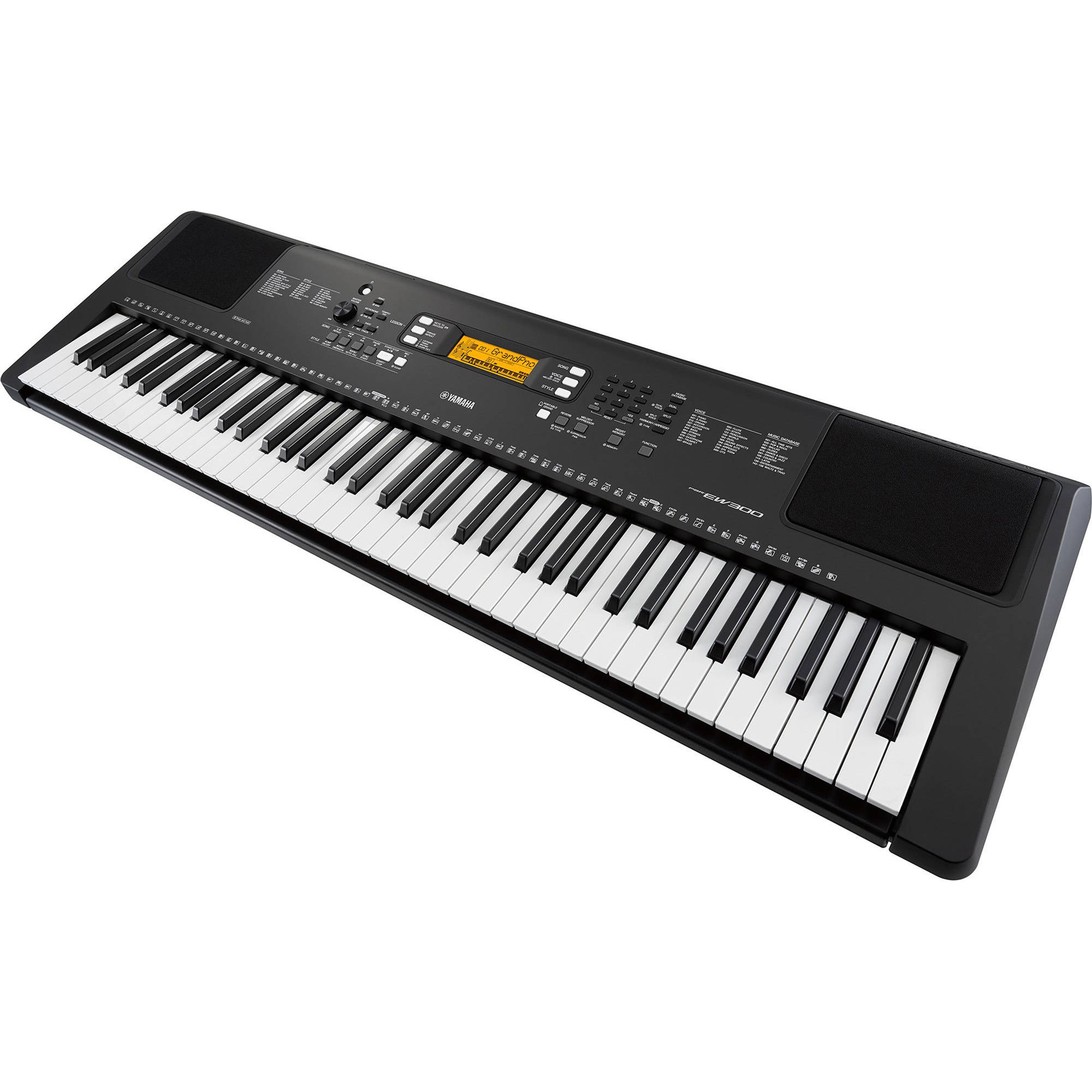 yamaha psr ew300 76 key portable keyboard psrew300 b h photo