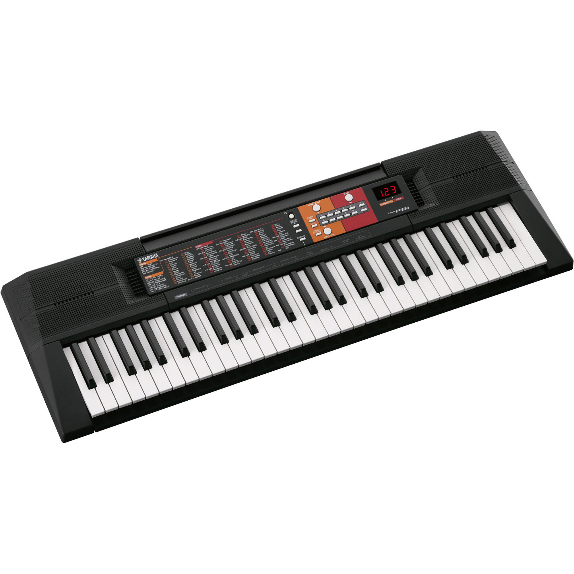 yamaha psr f51 61 key entry level portable keyboard psrf51 b h