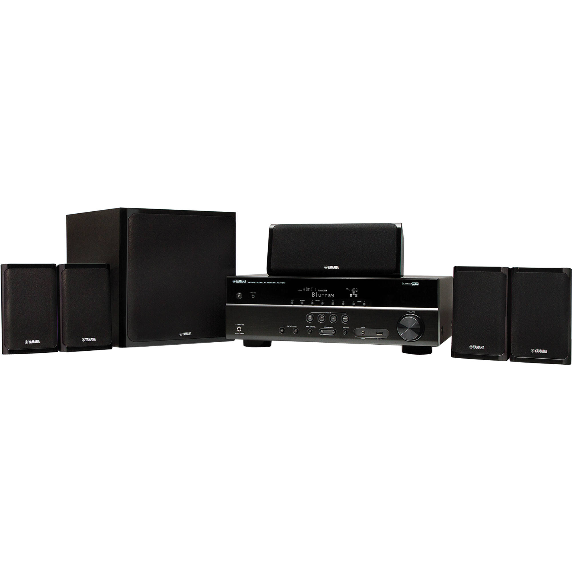 yamaha yht 4910u 5 1 channel home theater system. Black Bedroom Furniture Sets. Home Design Ideas