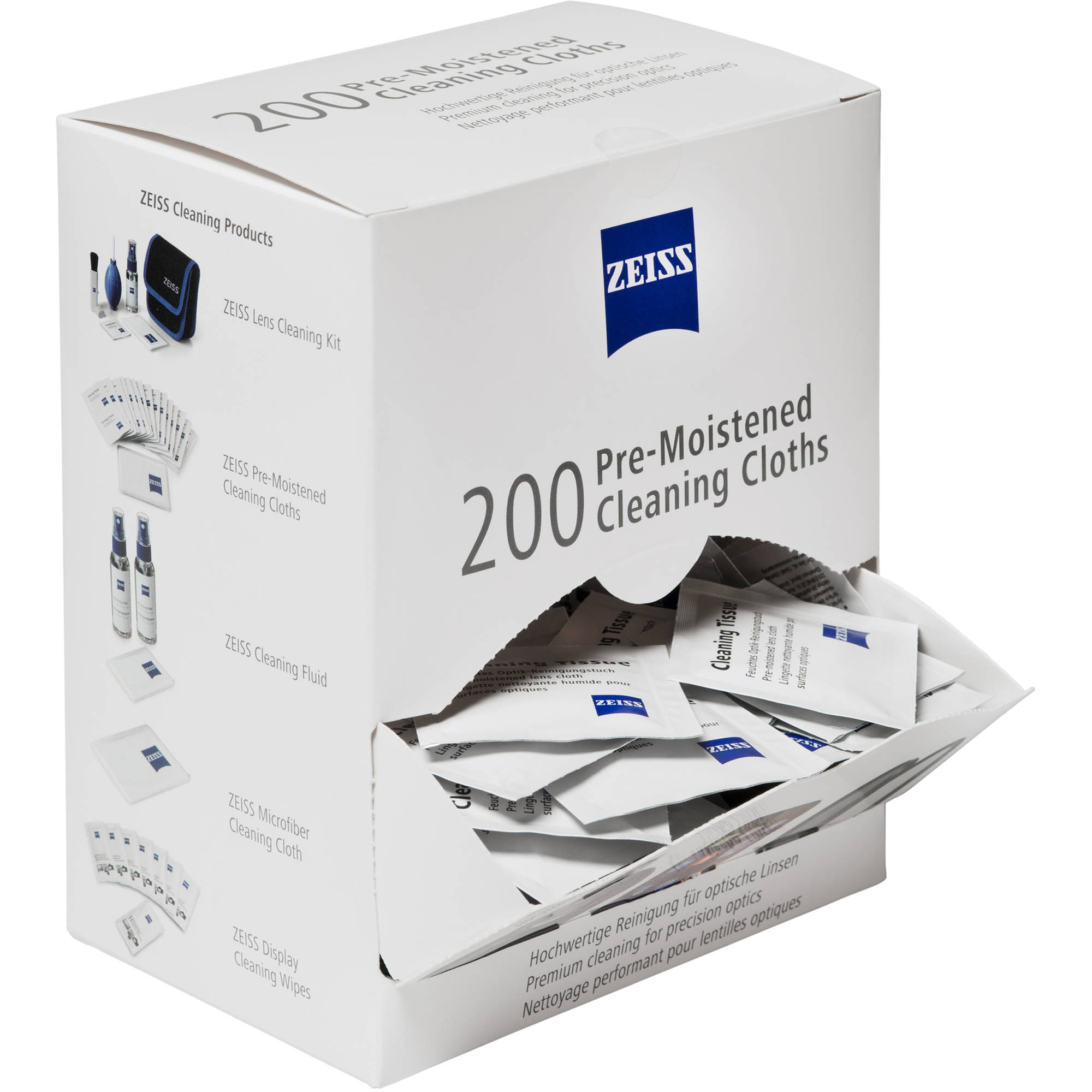 87b660ff80 ZEISS Pre-Moistened Cleaning Cloths (Box of 200) 2203-468 B H