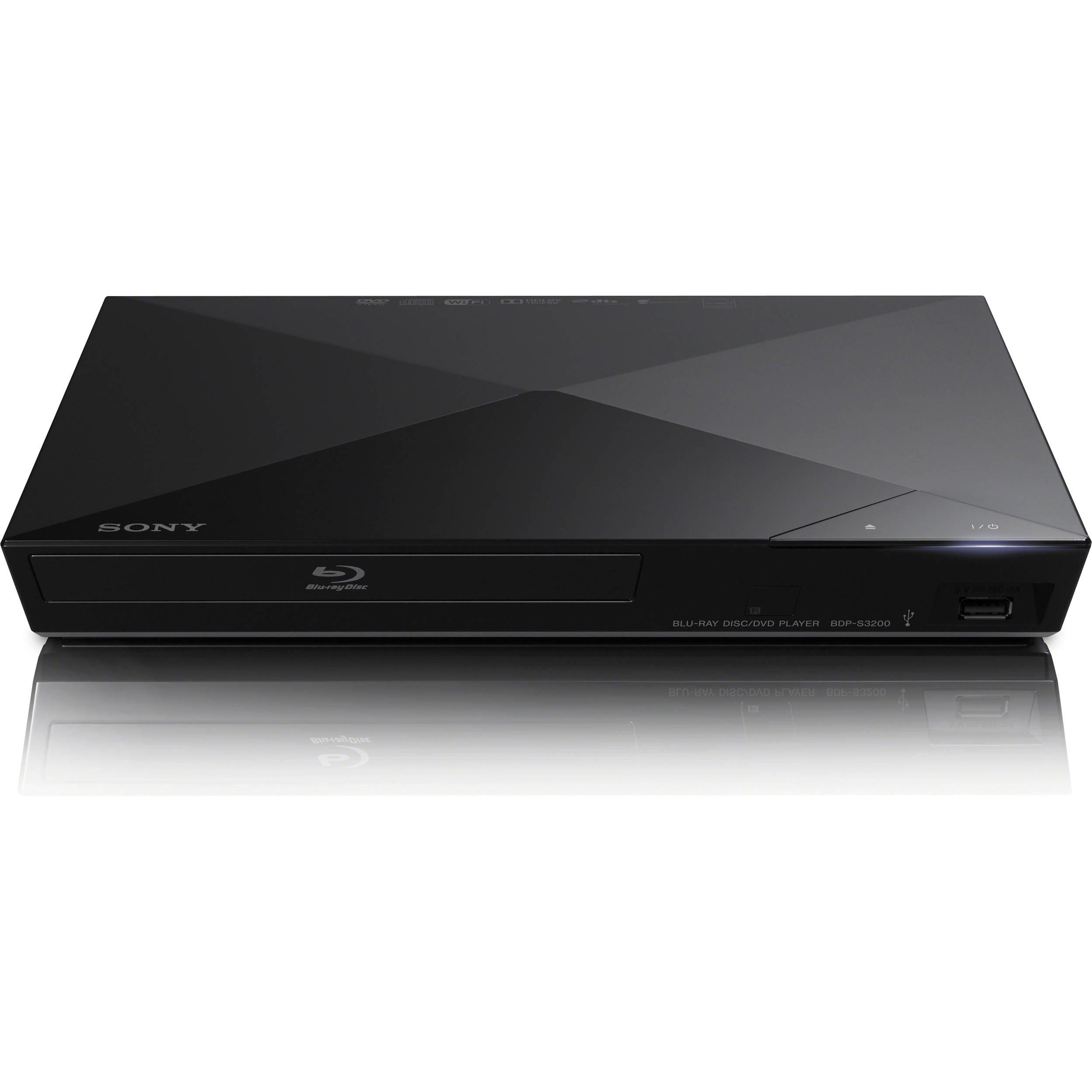 sony bdp s3200 wi fi blu ray disc player bdp s3200 b h photo. Black Bedroom Furniture Sets. Home Design Ideas