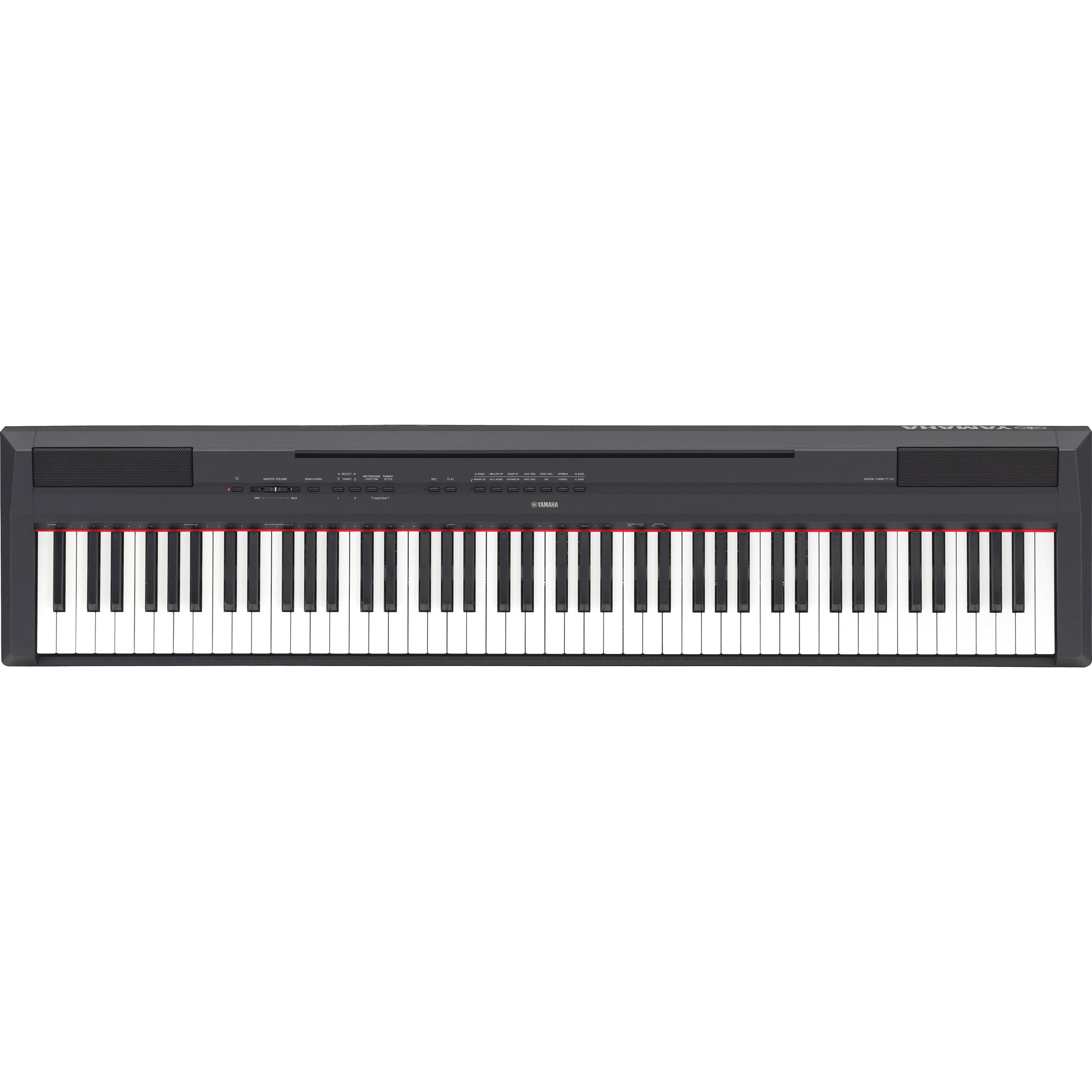 yamaha p 115 88 key digital piano with graded hammer. Black Bedroom Furniture Sets. Home Design Ideas
