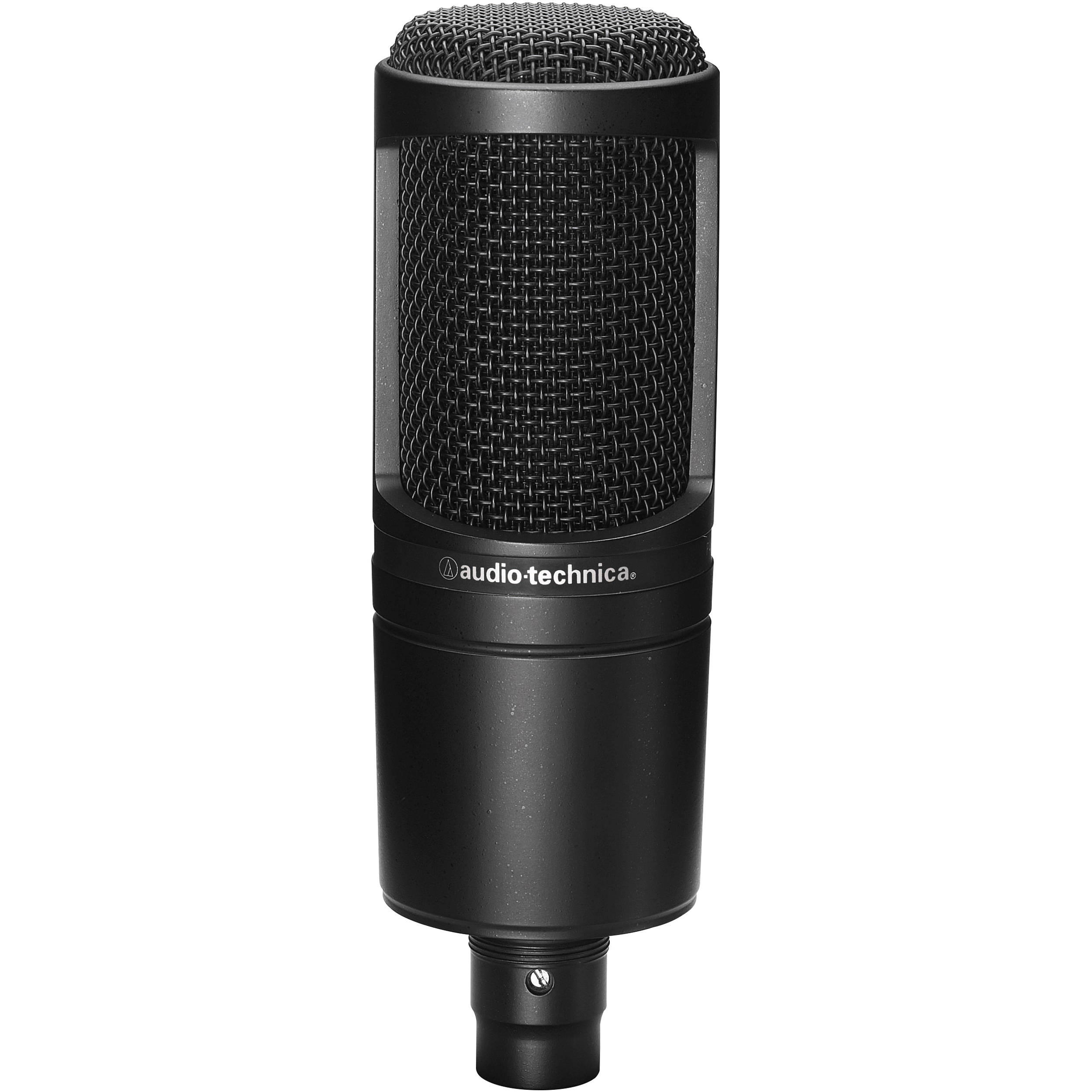 audio technica at2020 cardioid condenser microphone at2020 b h. Black Bedroom Furniture Sets. Home Design Ideas