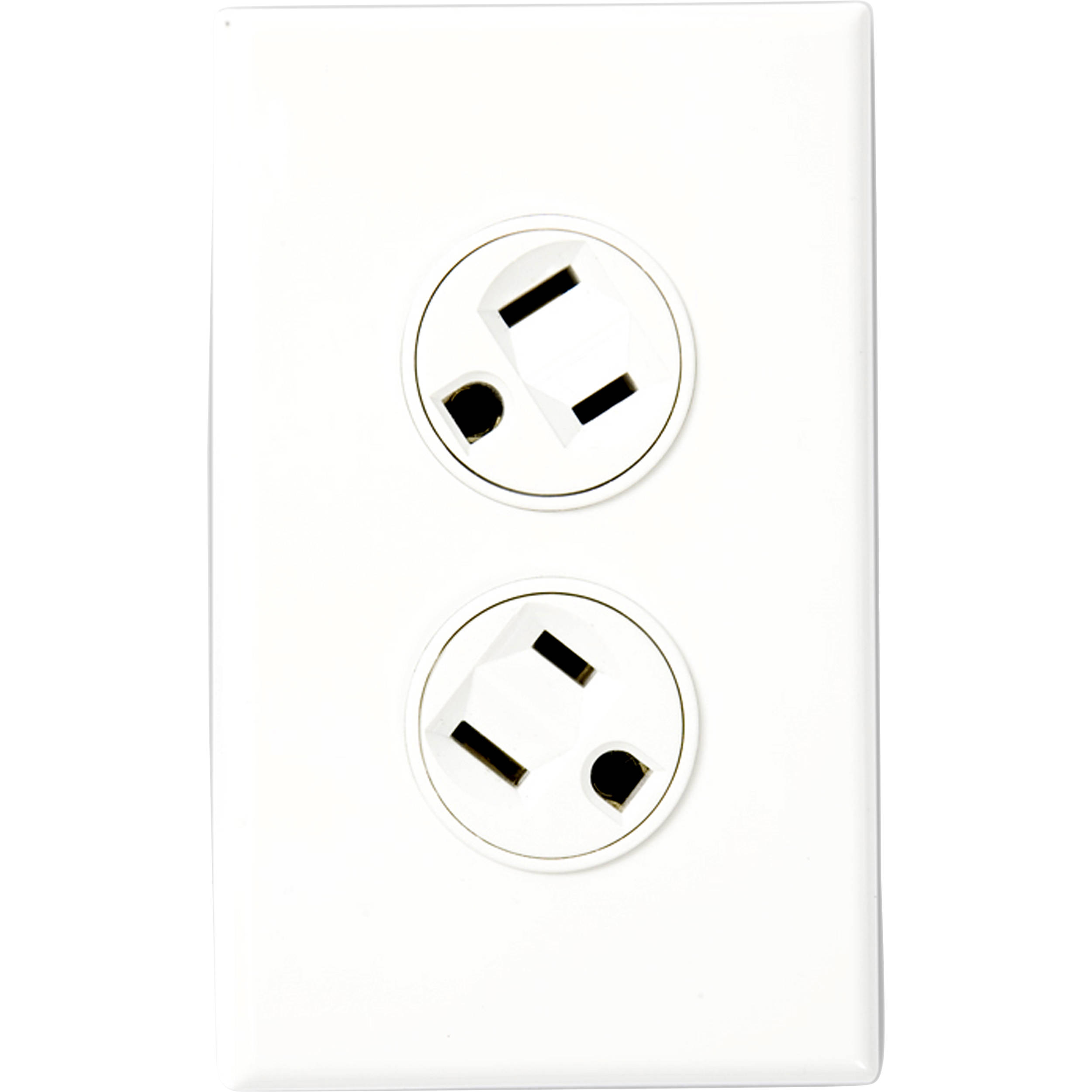 360 electrical rotating duplex outlet  white  36010