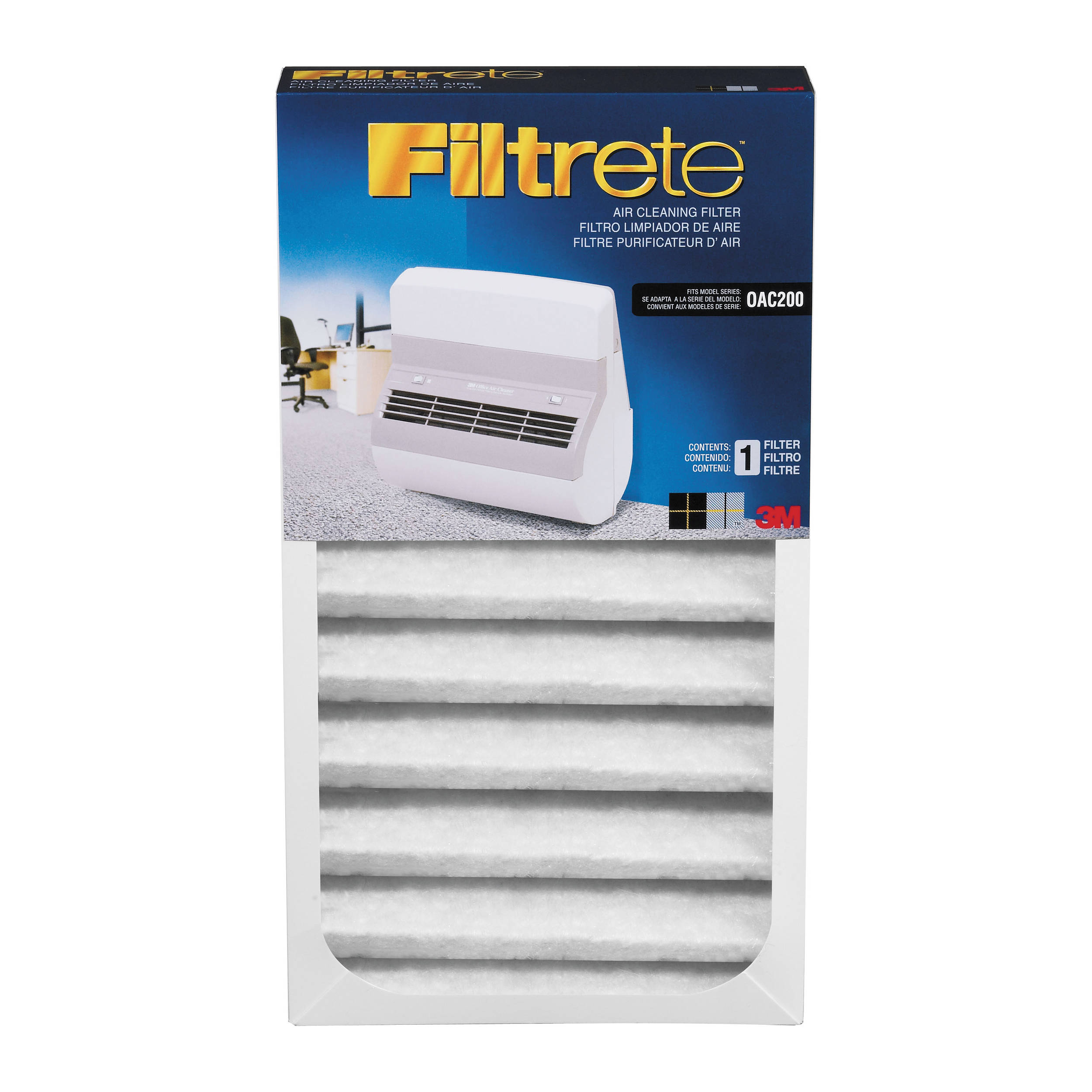 3m Filtrete Replacement Filter For Oac200 Office Air Cleaner