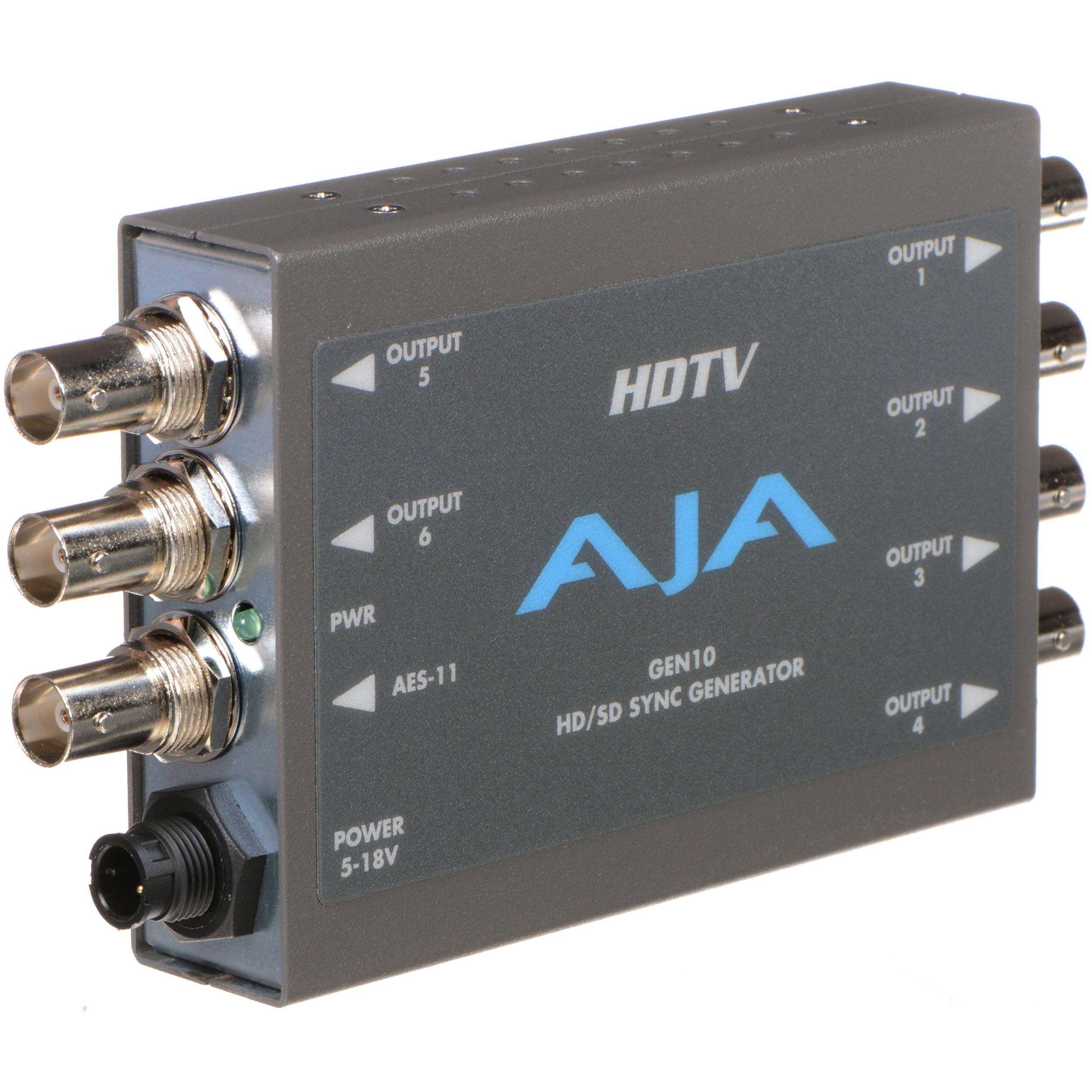 AJA GEN10 HD SD AES Sync Generator with Universal Power GEN10