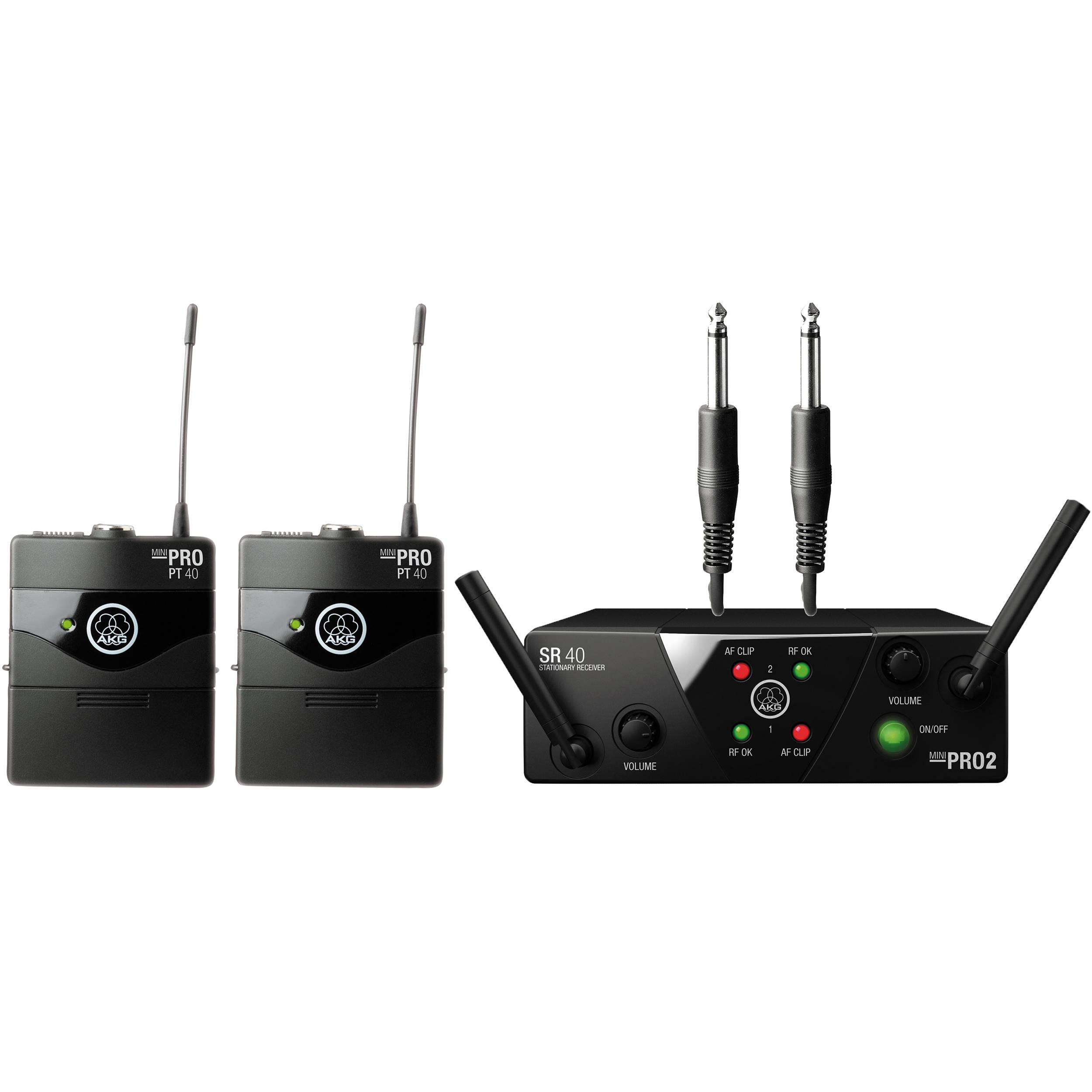 Akg Wms 40 Mini2 Dual Wireless Instrumental System 3351h00020