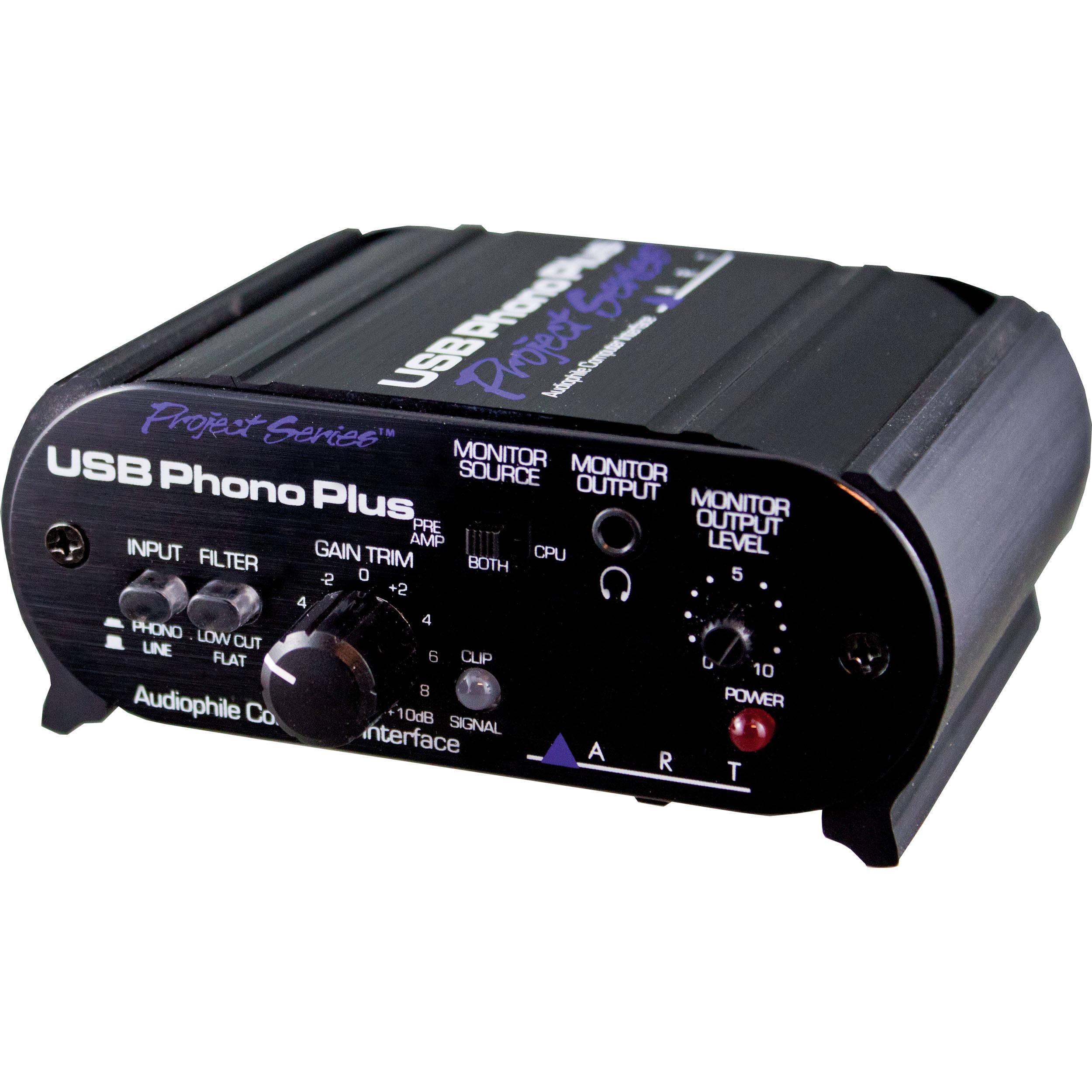 Art Usb Phono Plus Phono Preamp With Usb Usb Phonoplusps B Amp H