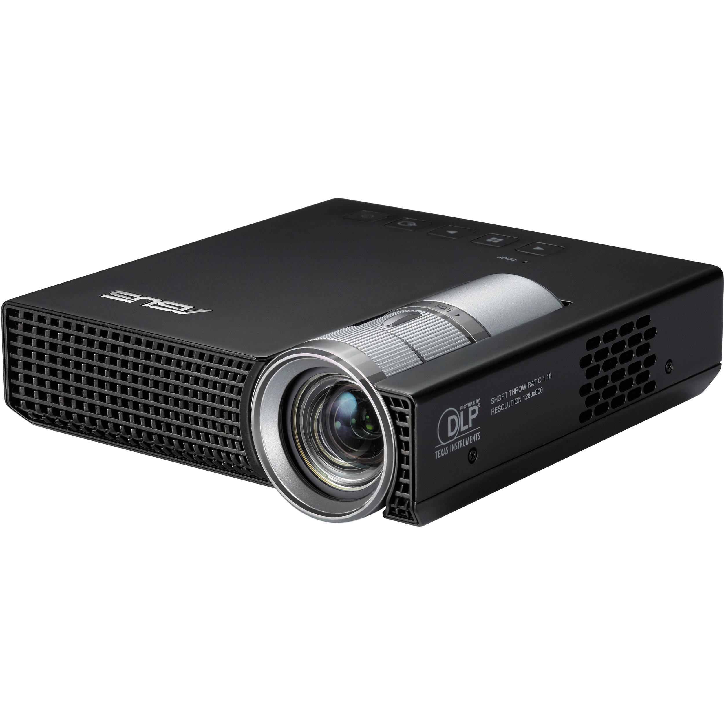 Asus p1 ultra light hd portable led projector p1 pico b h for Hd mobile projector
