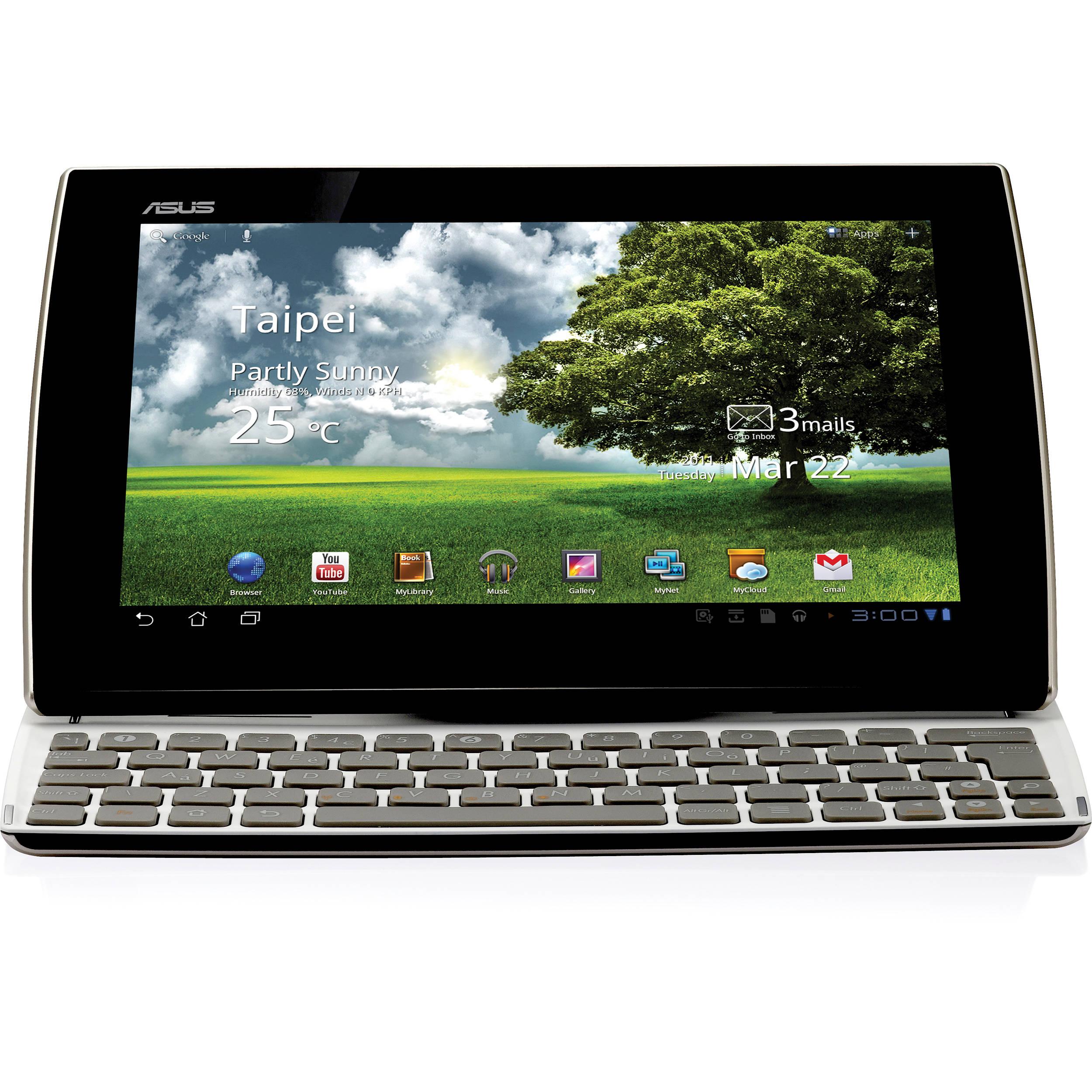 asus 16gb eee pad slider sl101 tablet pearl white sl101 a1 wt rh bhphotovideo com Asus Transformer Pad Infinity TF700T Asus Eee Pad Transformer Prime