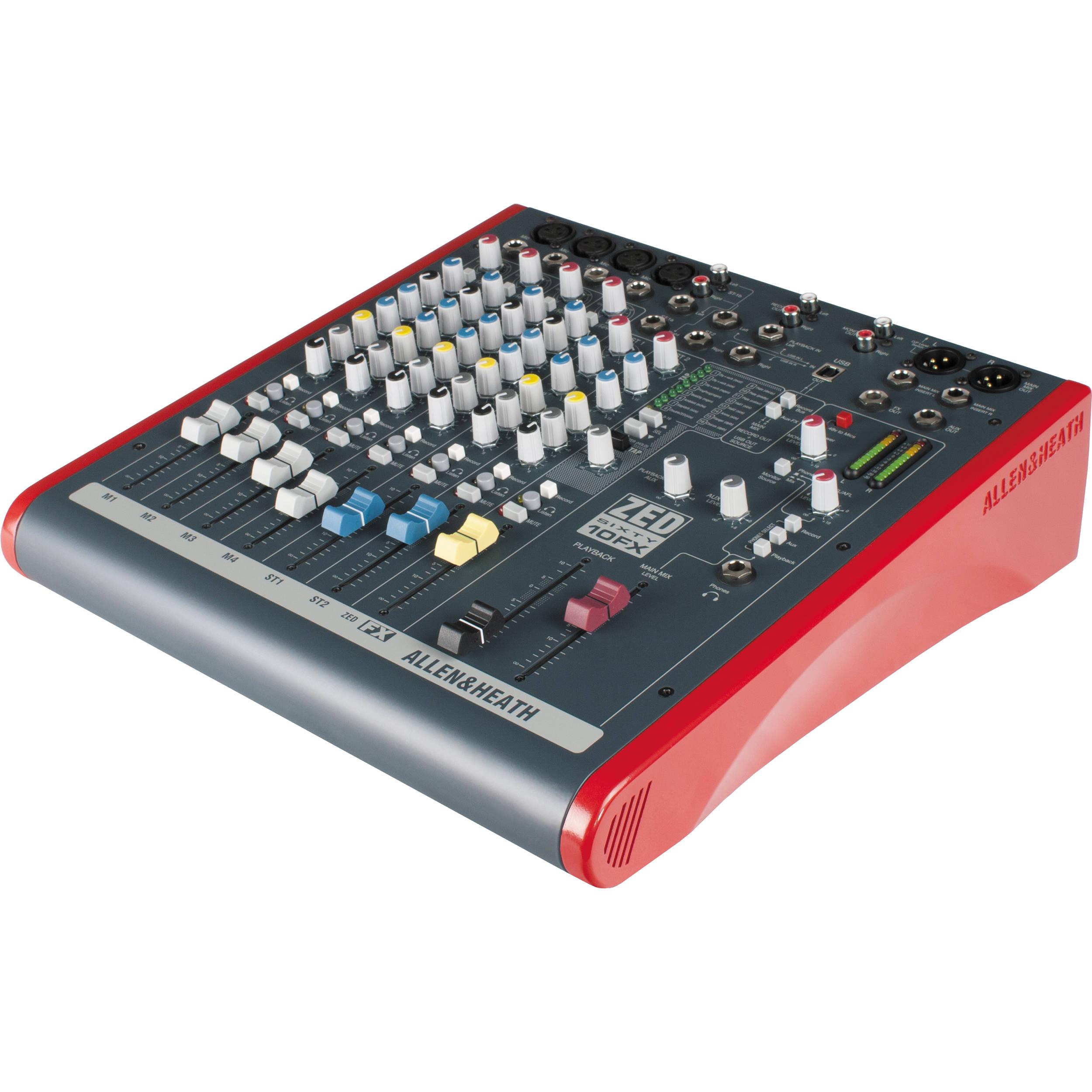 Allen Heath Mixer : allen heath zed60 10fx 6 channel mixer ah zed60 10fx b h ~ Vivirlamusica.com Haus und Dekorationen