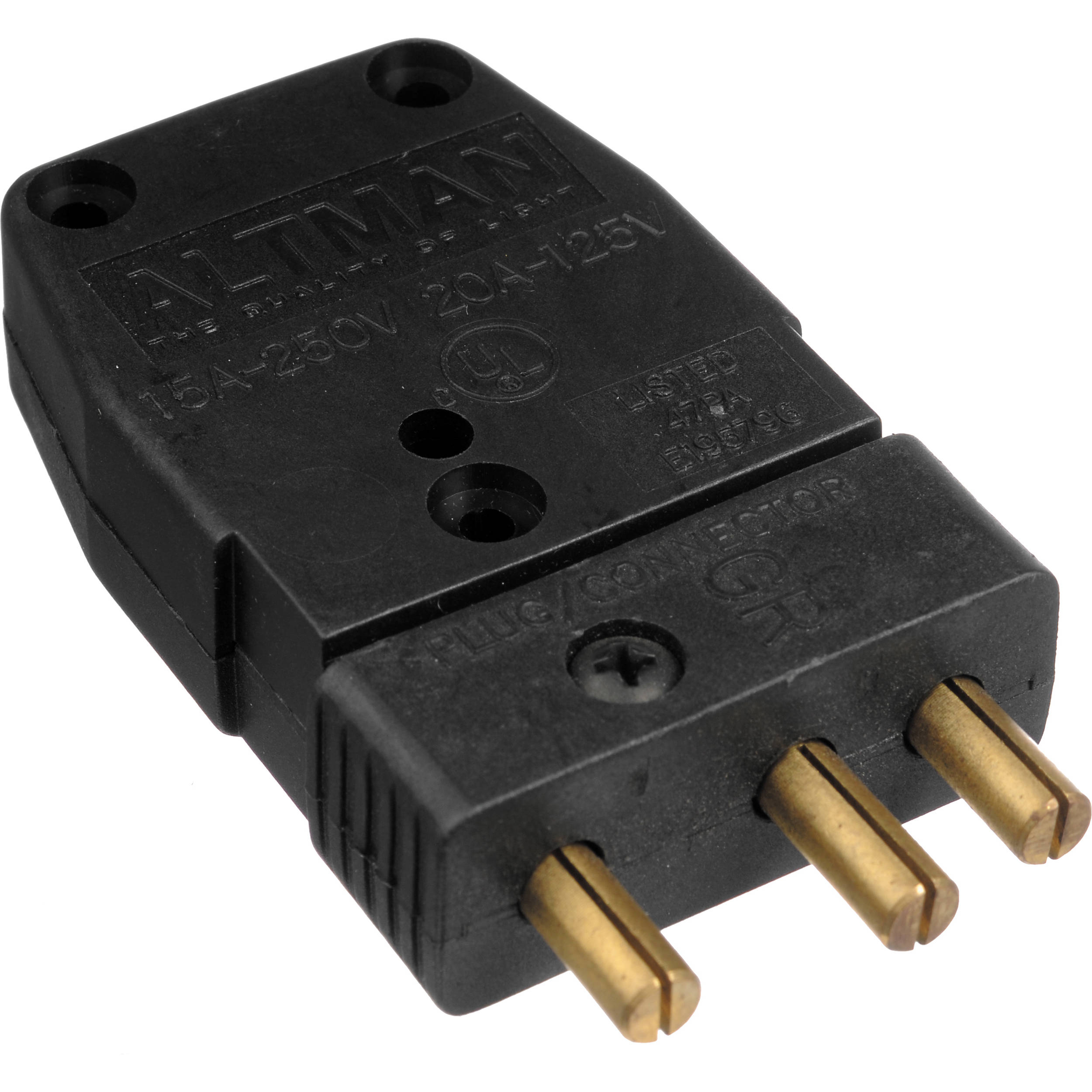 Altman Male Stage Pin Connector - 20 Amps 52-138GM B&H Photo