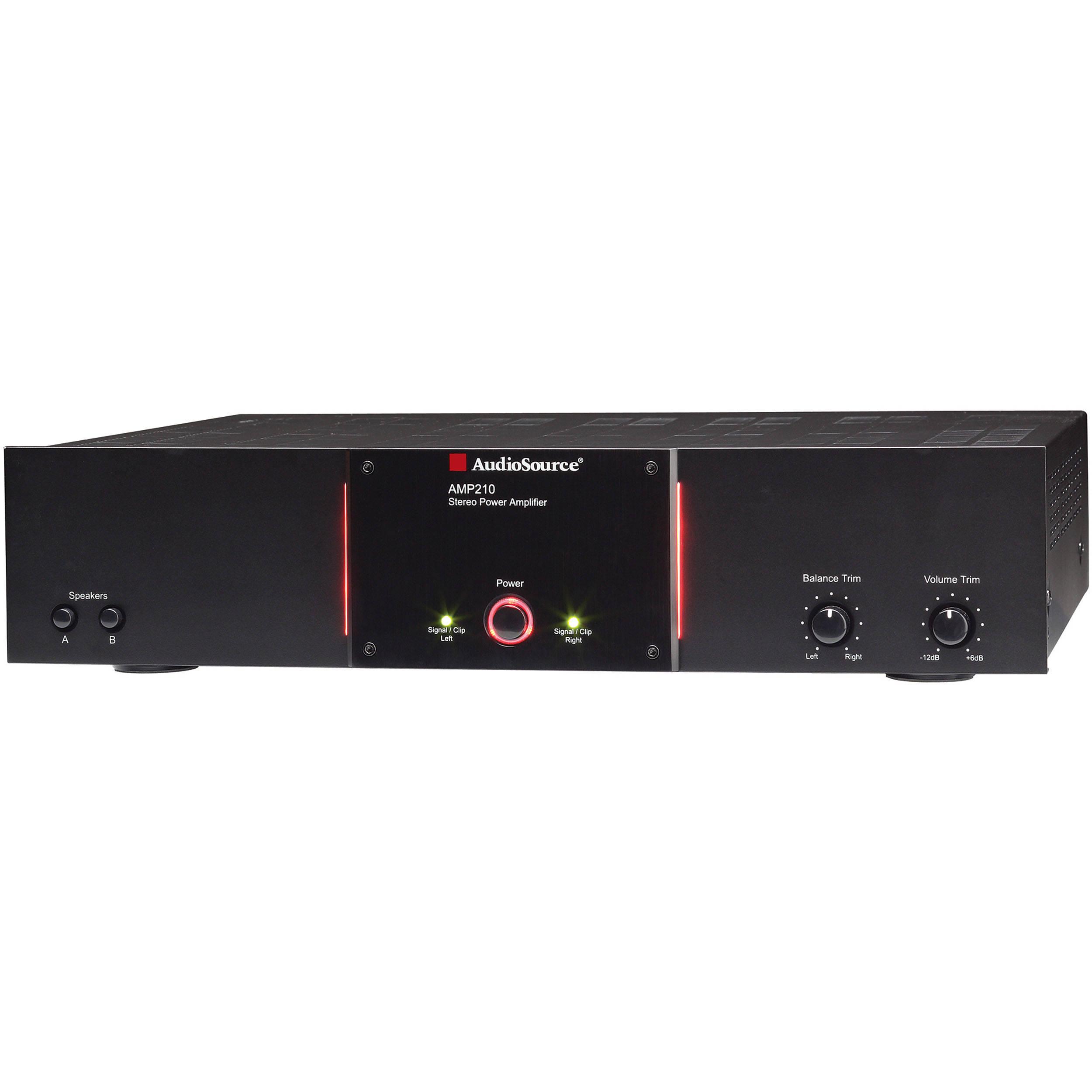 audiosource amp210 power amplifier amp 210 b h photo video. Black Bedroom Furniture Sets. Home Design Ideas