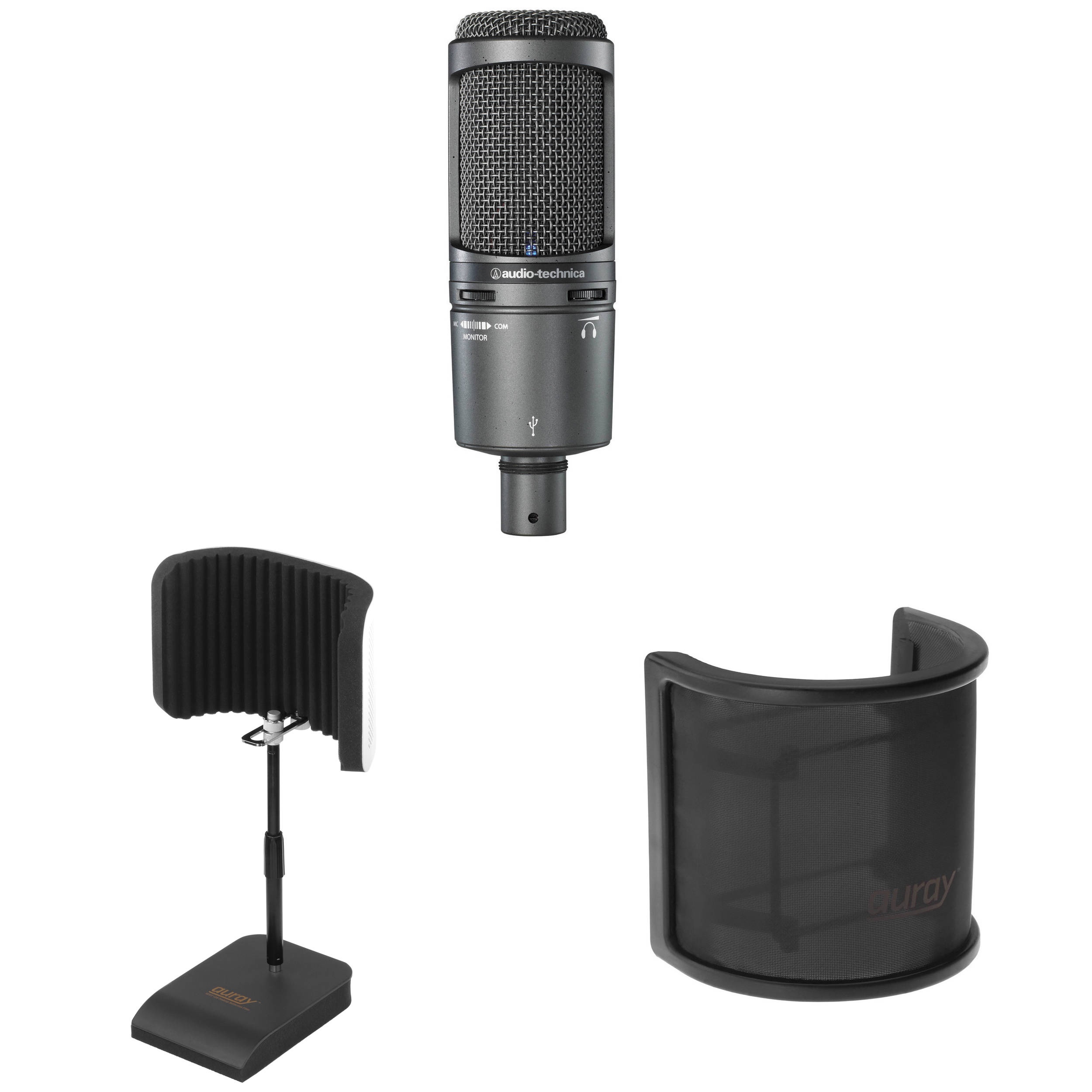 how to connect audio technica at2020 to computer