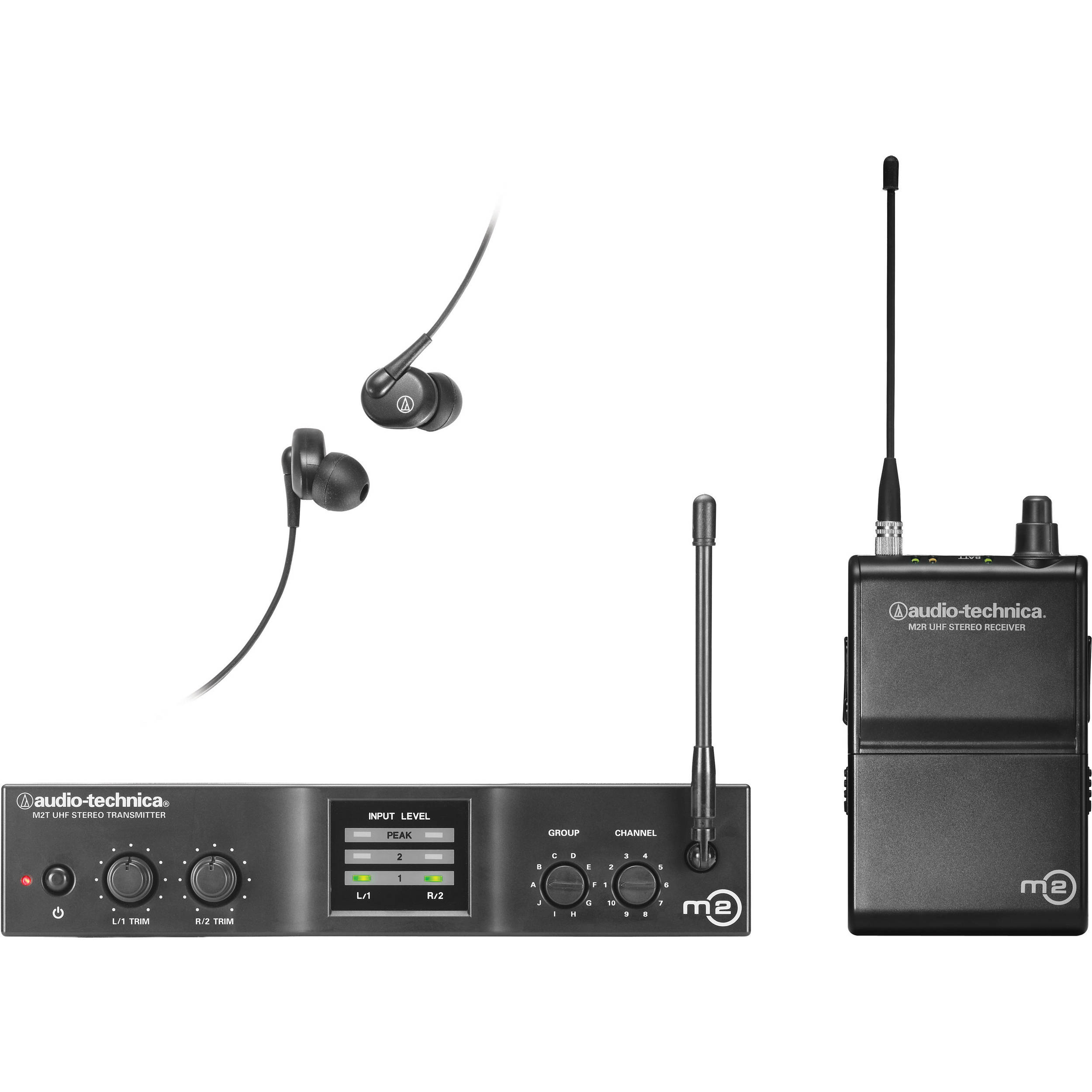 audio technica m2 wireless in ear monitoring system m2l b h. Black Bedroom Furniture Sets. Home Design Ideas