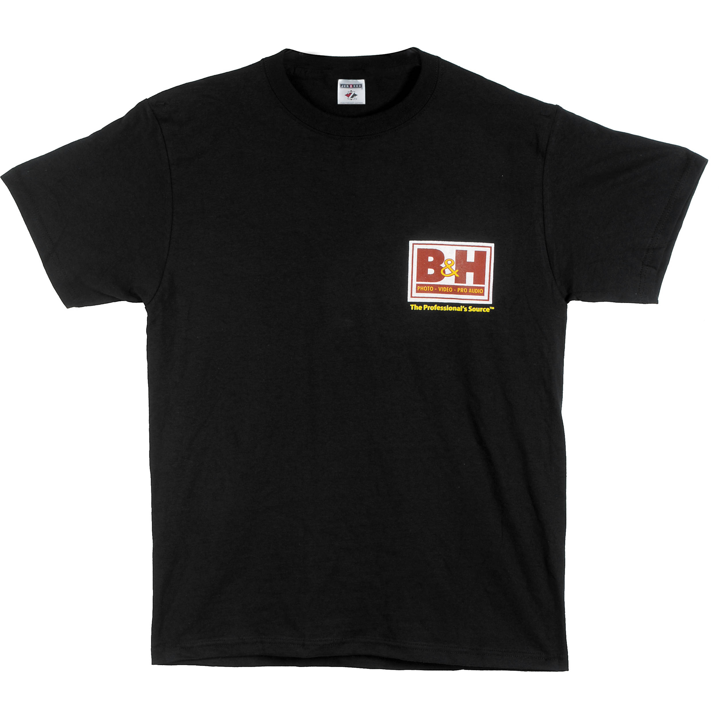 b h photo video web logo t shirt medium black bhw tbm b h. Black Bedroom Furniture Sets. Home Design Ideas