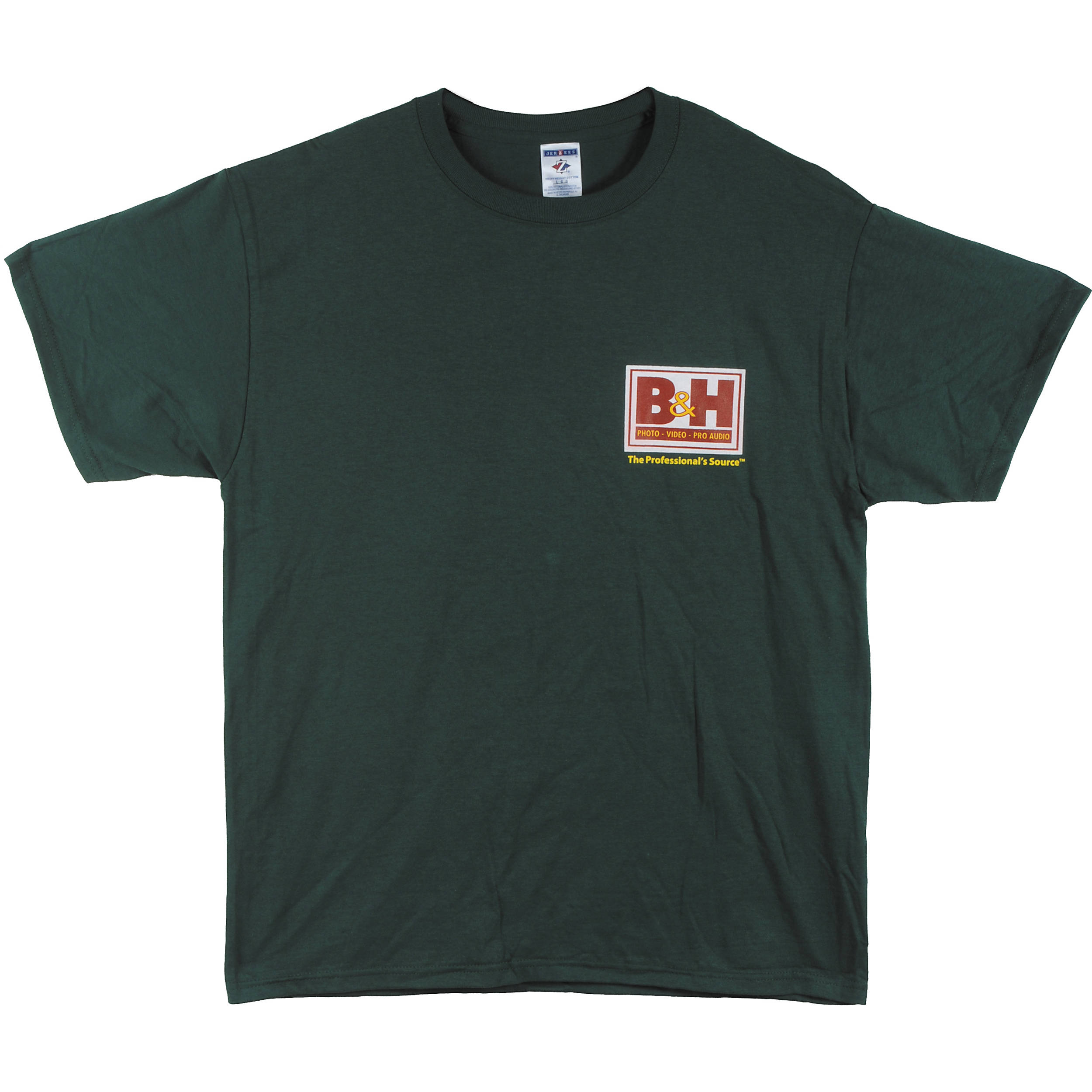b h photo video web logo t shirt large green bhw tgrl b h. Black Bedroom Furniture Sets. Home Design Ideas
