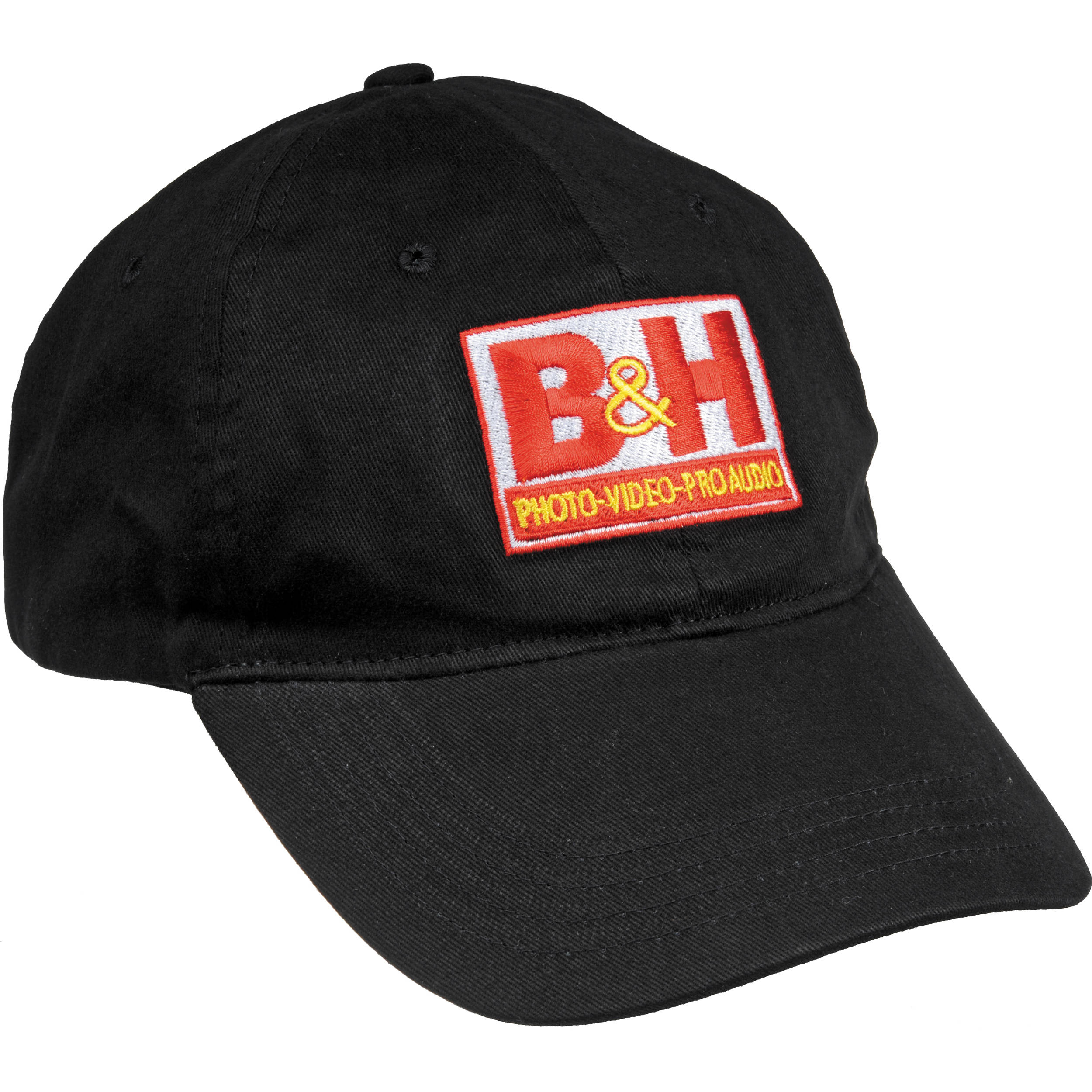 b h photo video logo baseball cap black bh cap b b h photo. Black Bedroom Furniture Sets. Home Design Ideas