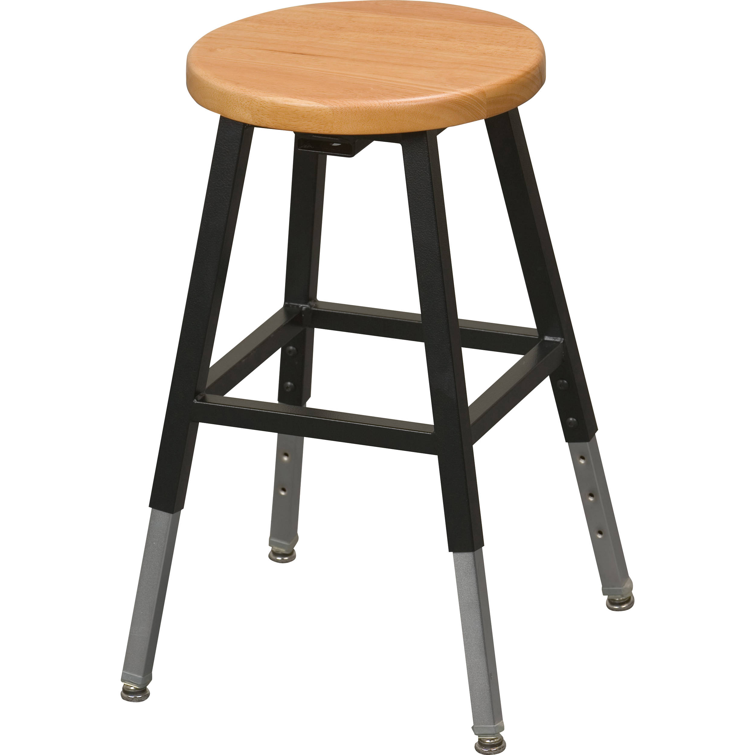 Balt 34441R Adjustable Height Lab Stool Without Back (Black)