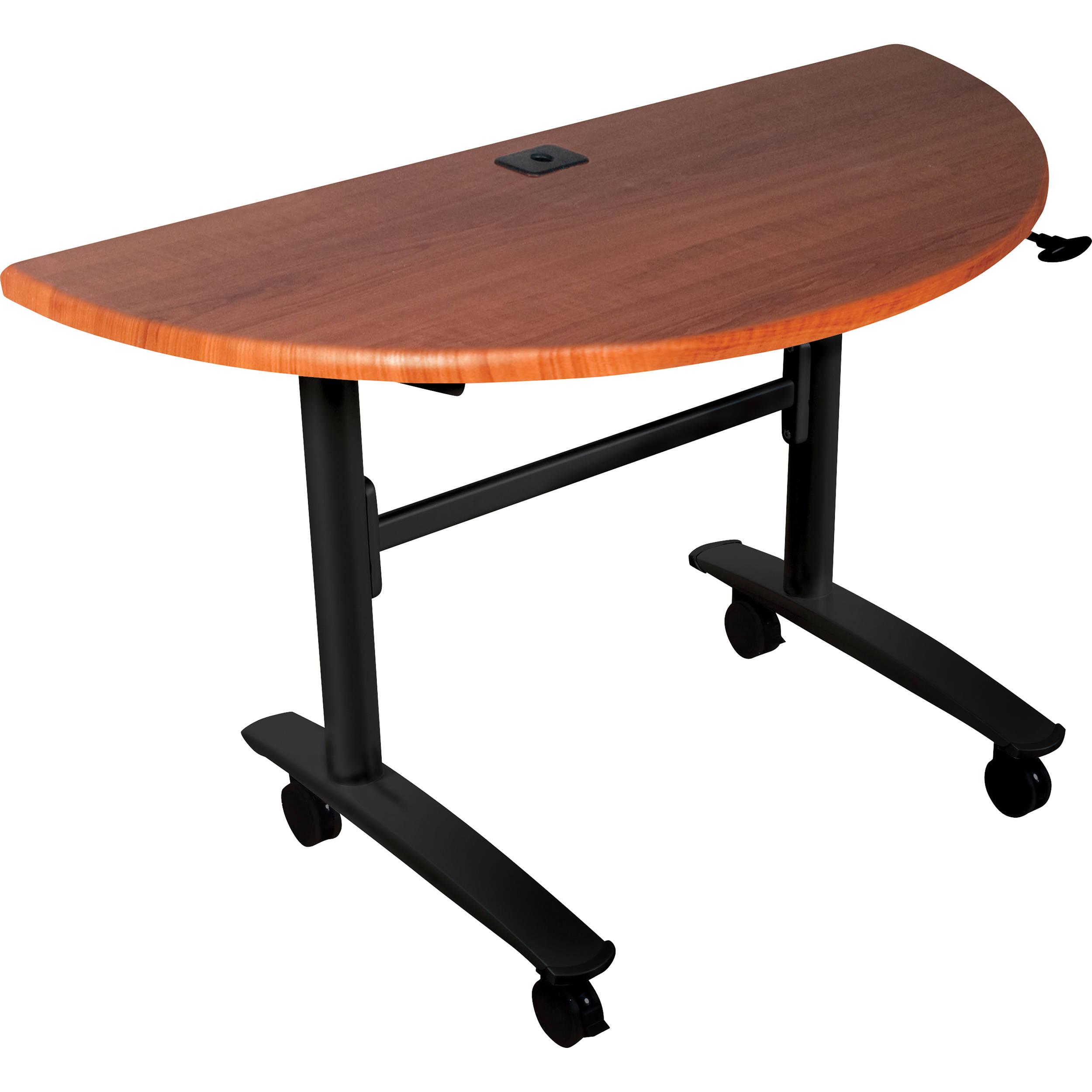 Balt 89999 Lumina Half Round Table Black Cherry 89999m B H