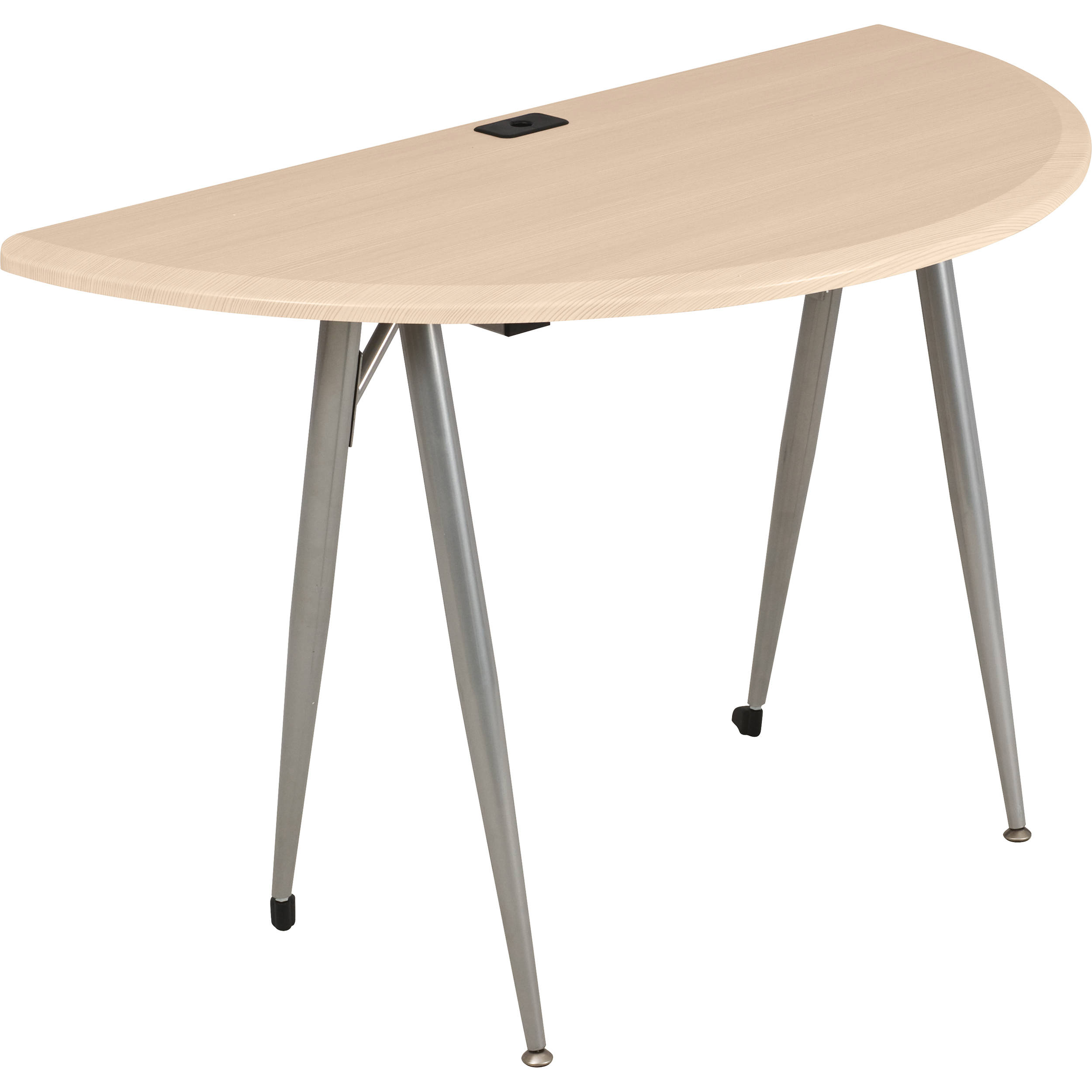Balt iFlex Small Desk (Half Round, Teak) 90057 B&H Photo Video