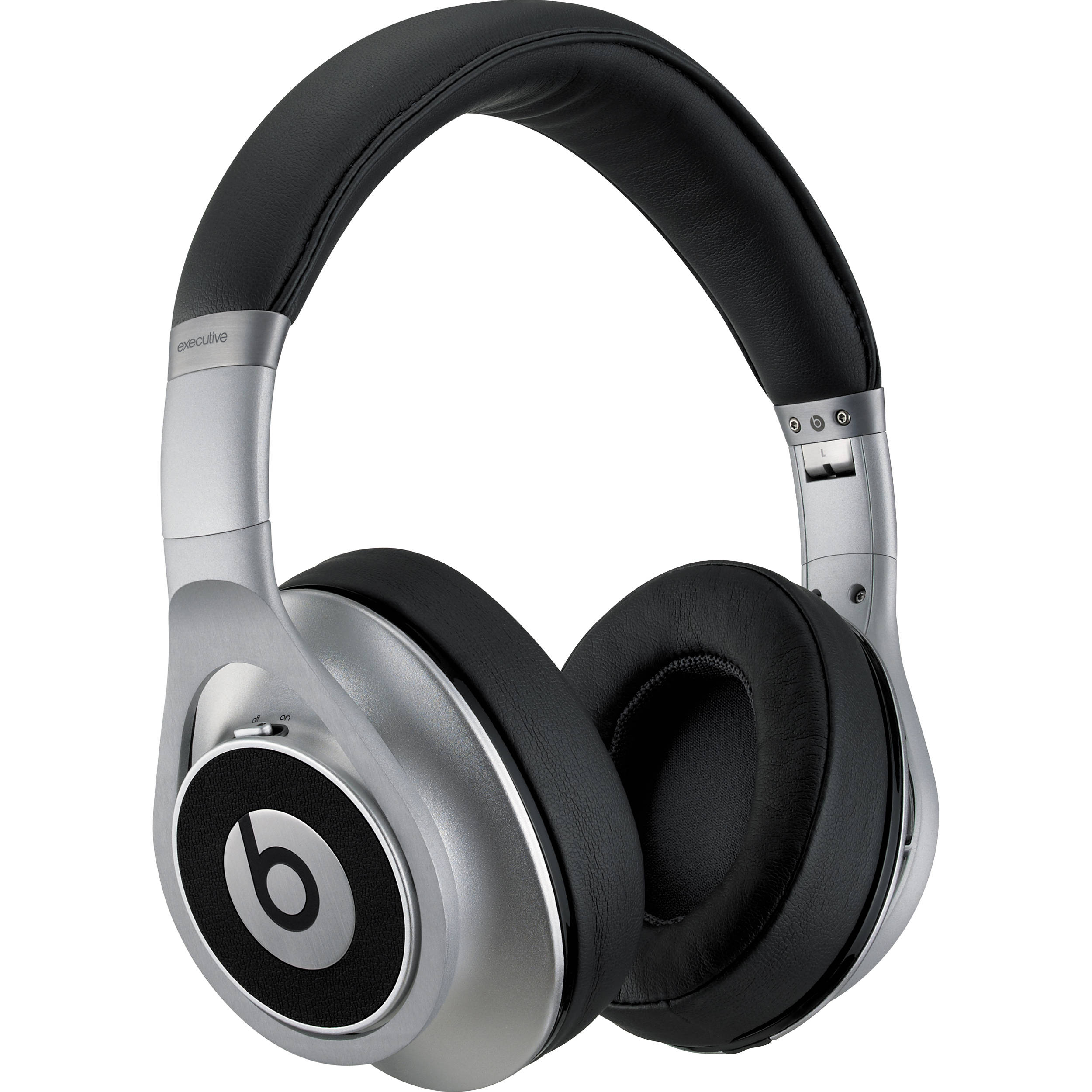 beats by dr dre executive headphones silver mh6w2am a b h. Black Bedroom Furniture Sets. Home Design Ideas