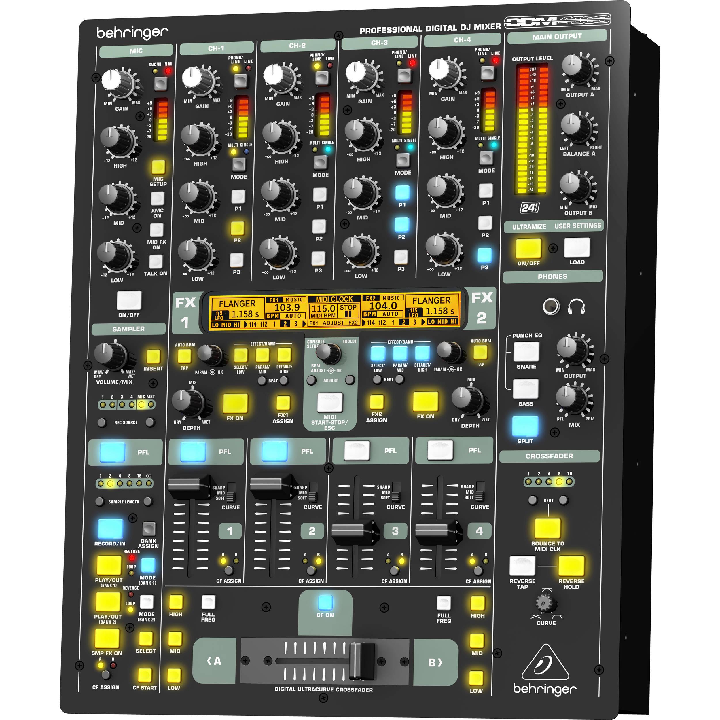 4 channel dj mixer