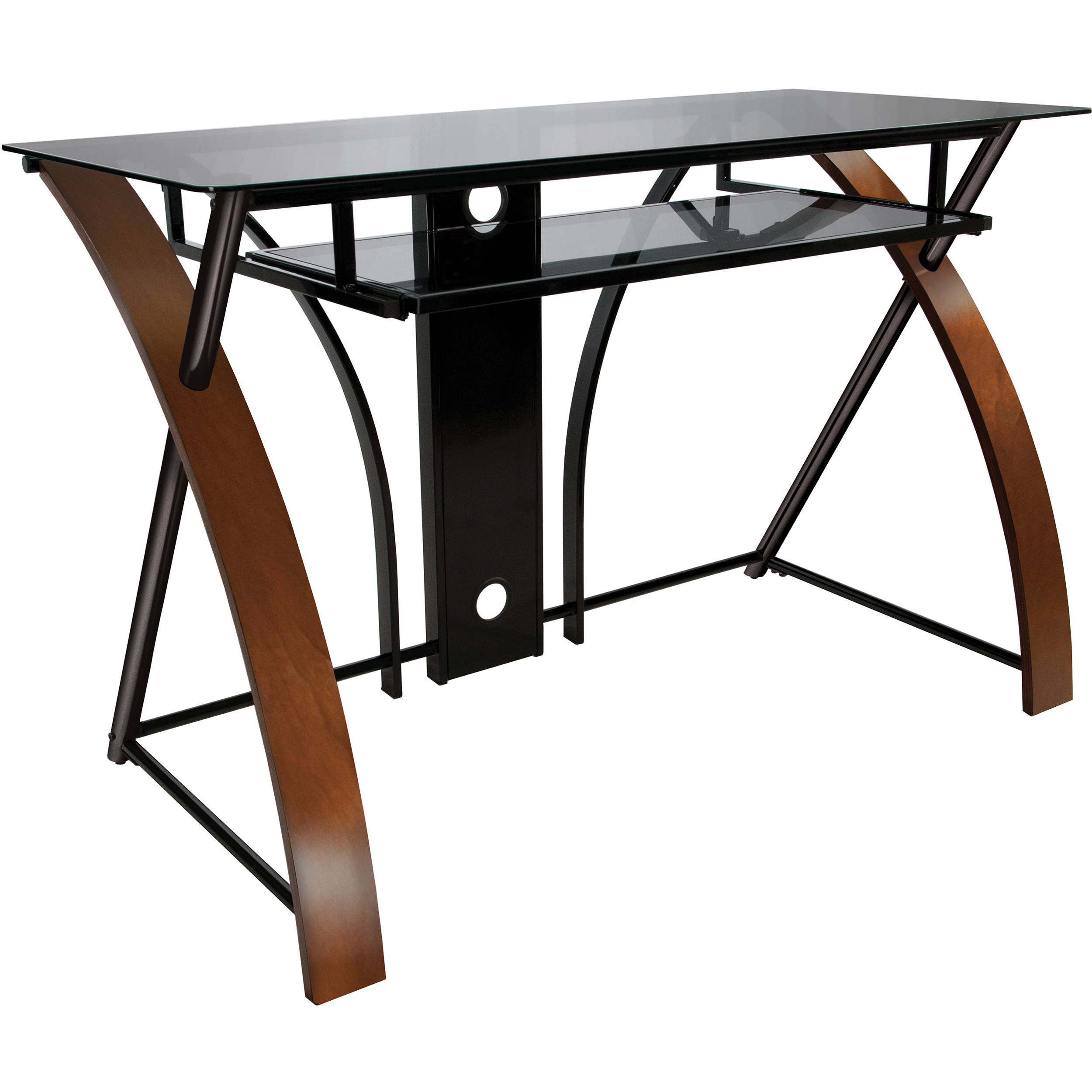 Bell O Cd8841 Computer Desk With Curved Wood Sides Cd8841 B Amp H