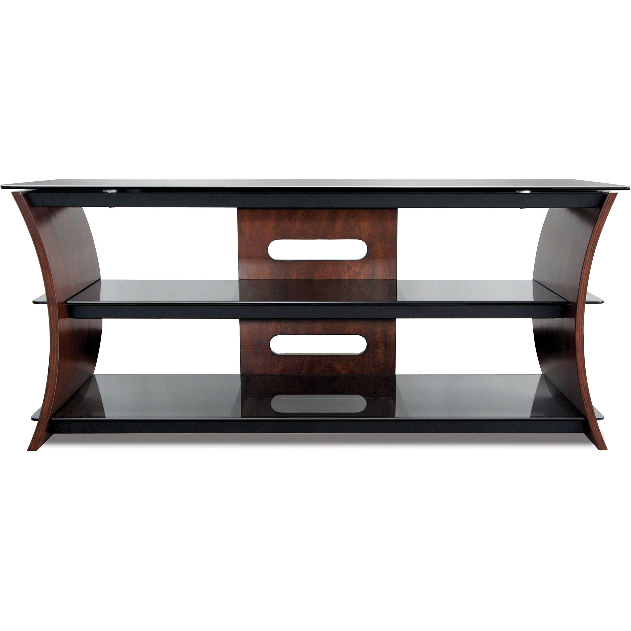 Fantastic Cw356 Curved Wood Tv Stand Interior Design Ideas Tzicisoteloinfo