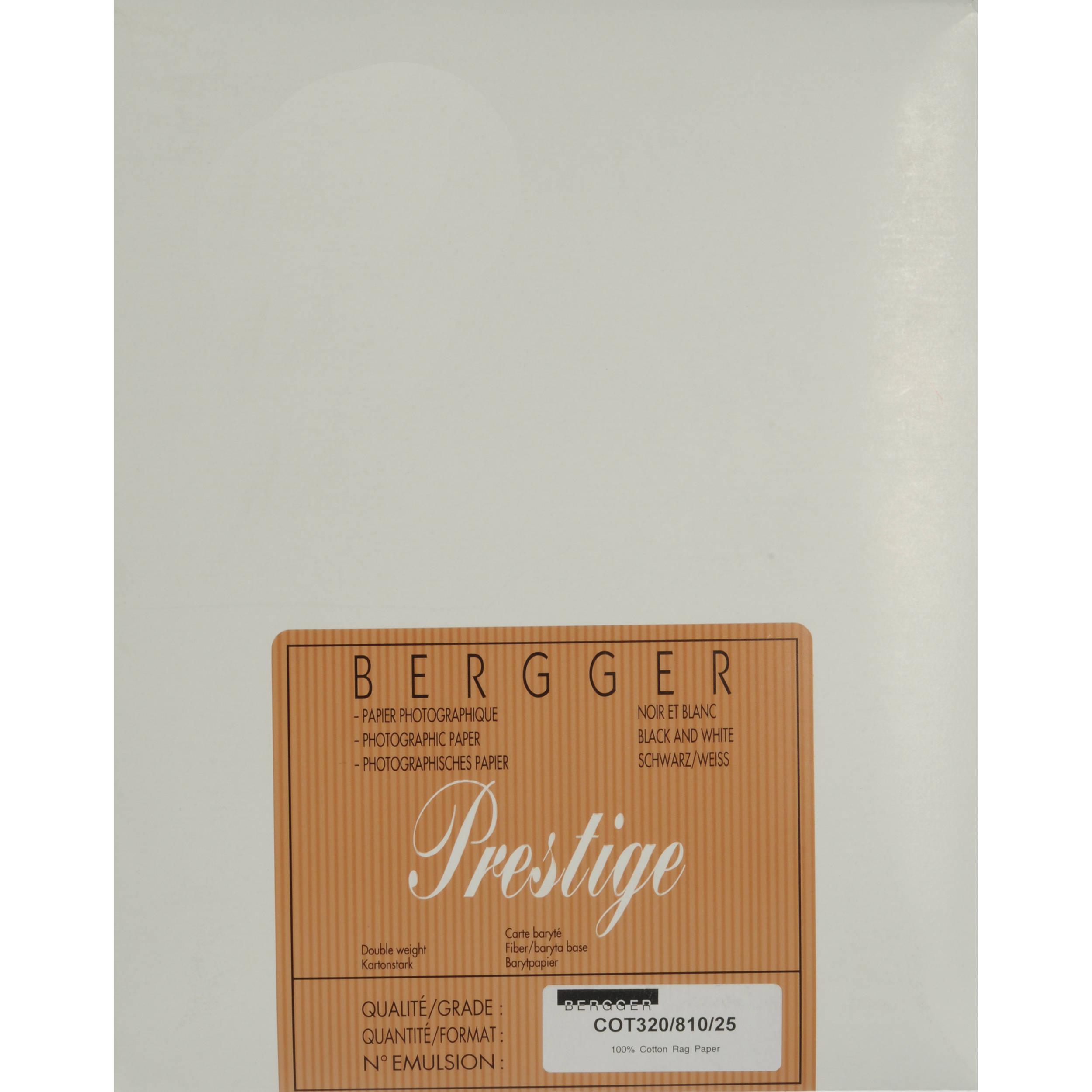 Bergger cot 320 paper 8 x 10 25 sheets