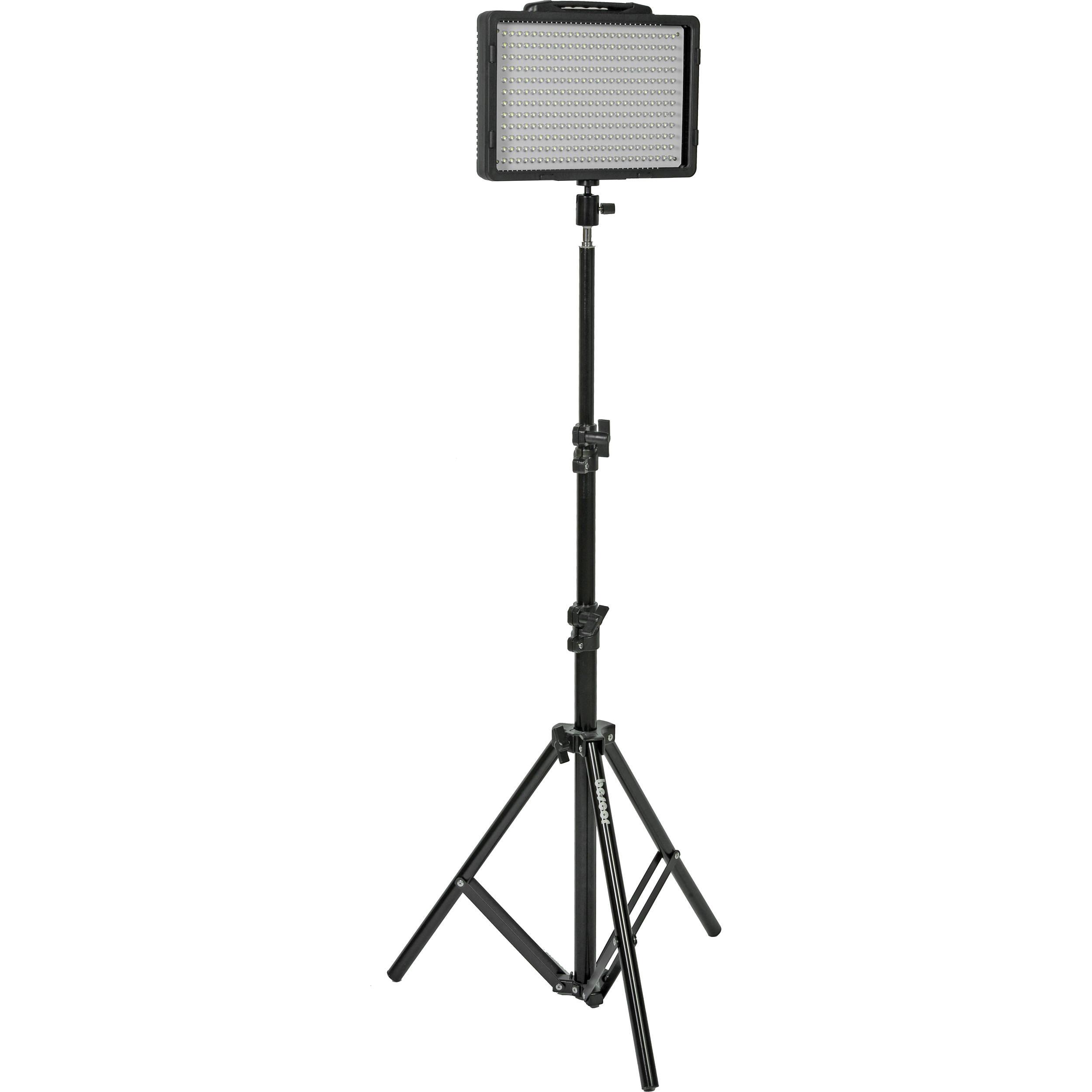 Bescor LED-200 LED Light & Stand Kit LED-200S B&H Photo
