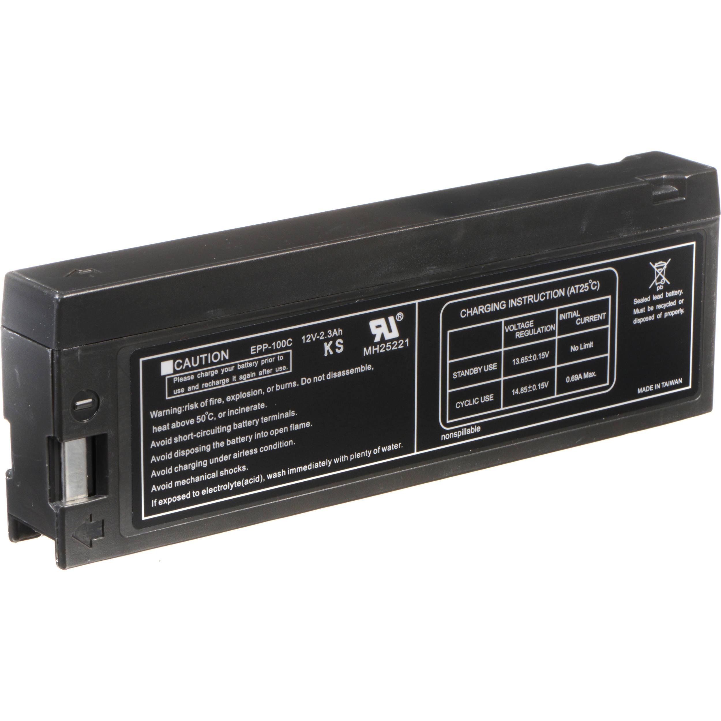 Bescor Pv Bp88 Lead Acid Battery Pack 12v 2300mah Pvbp88a1h