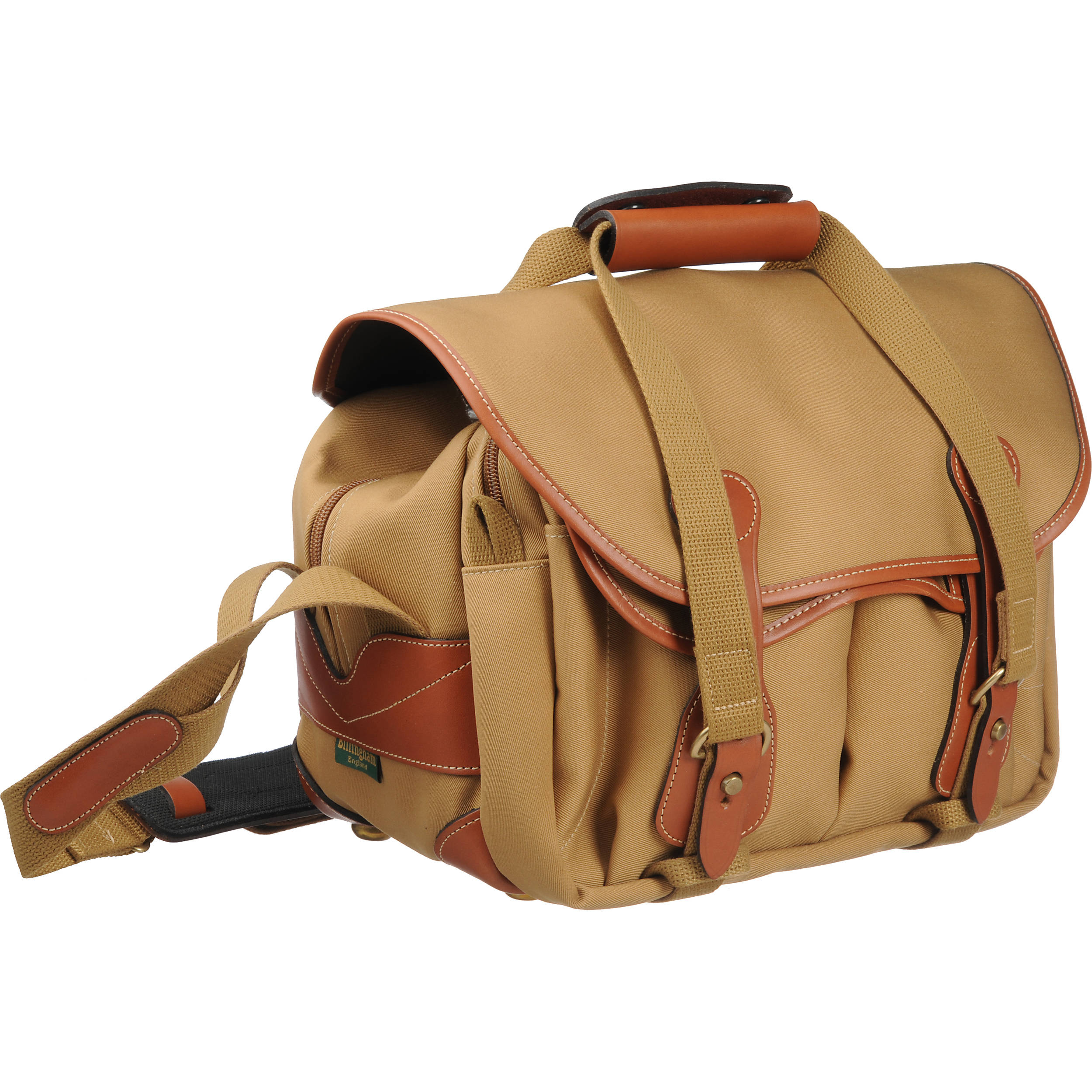 Billingham 225 Shoulder Bag Khaki With Tan Leather Trim