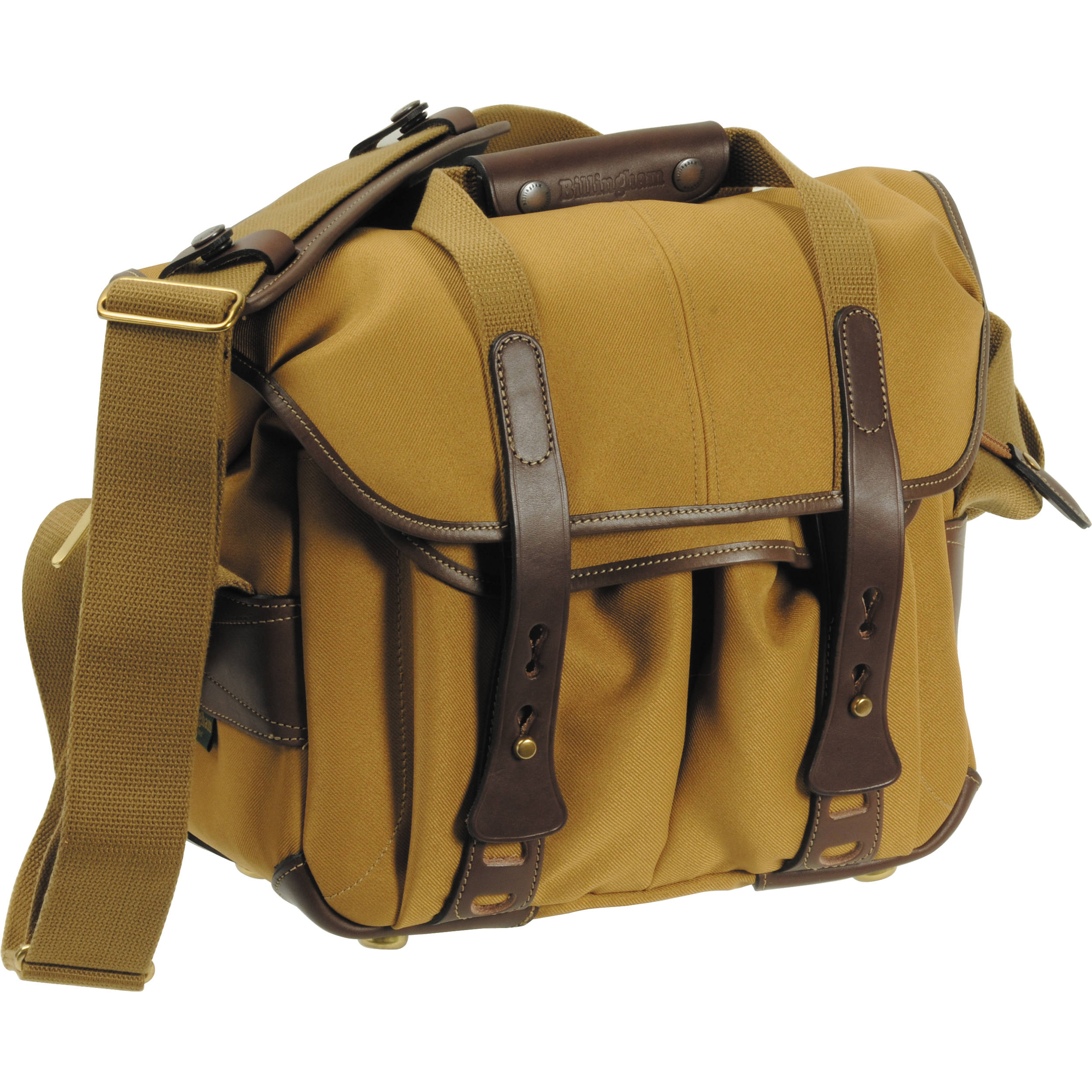 Billingham 207 Camera Bag Khaki With Chocolate Leather